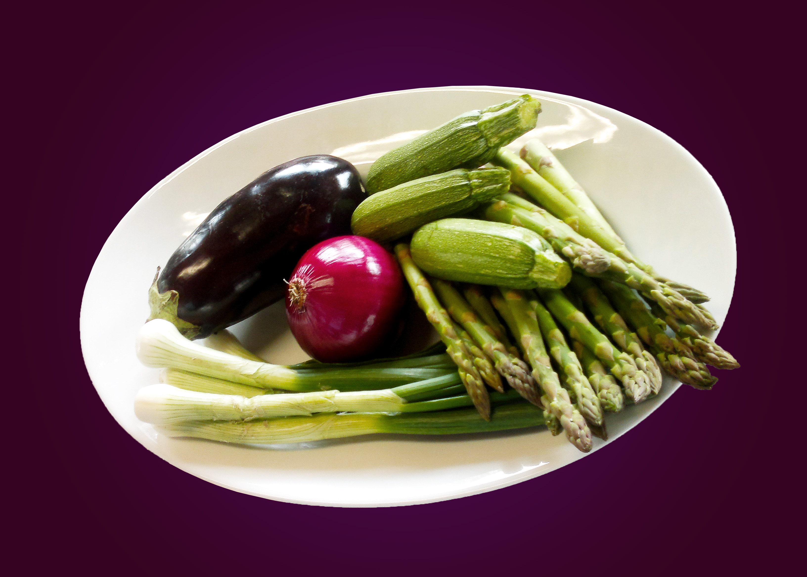 Vegetables on a dish photo