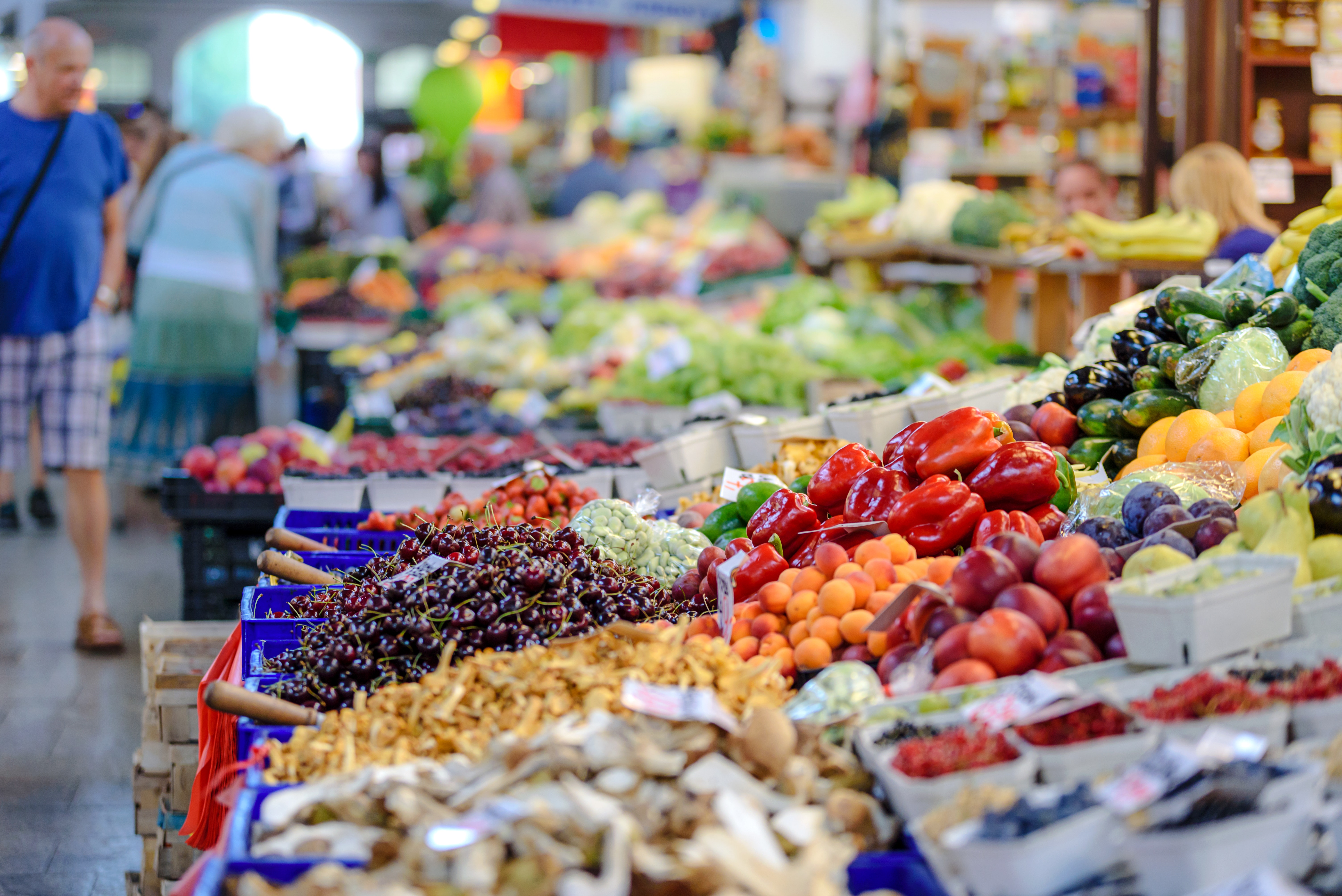 Vegetables stall photo