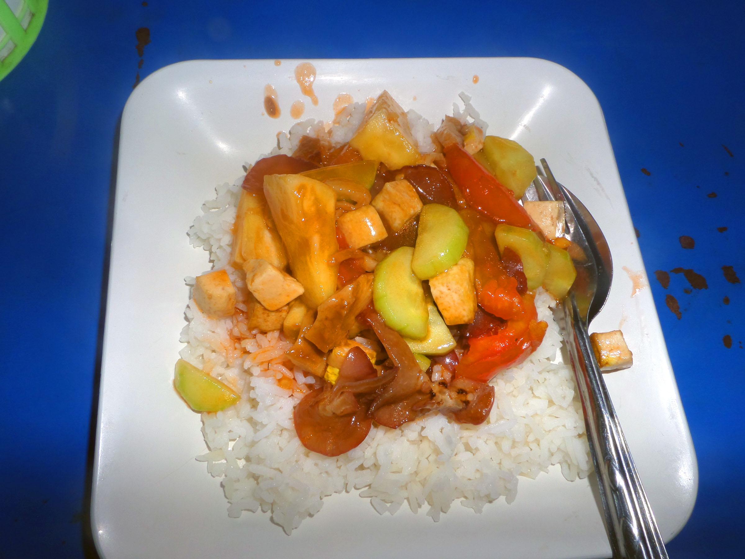 Vegetarian sweet and sour thai dish photo