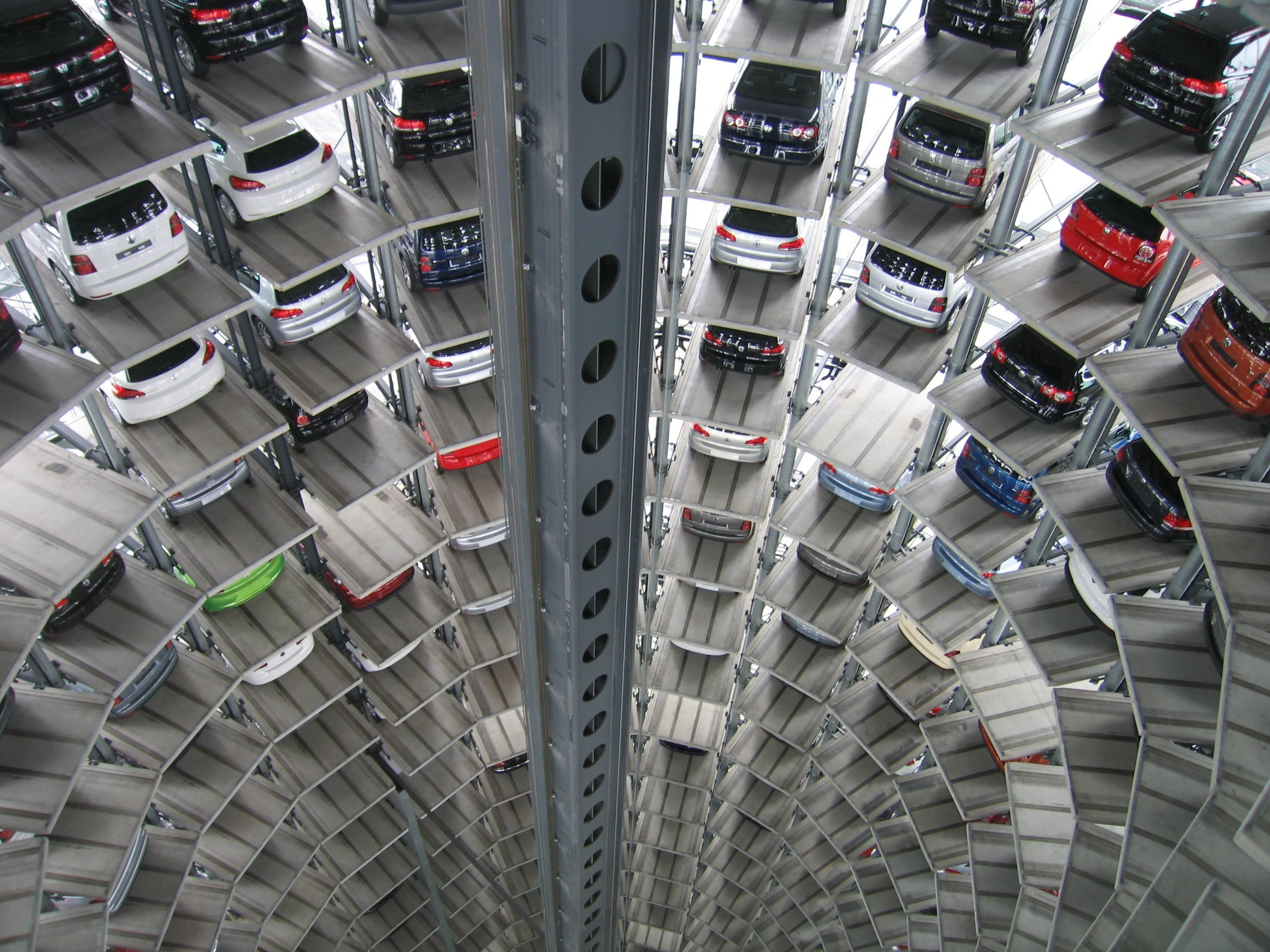 Vehicles Parked Inside Elevated Parking Lot, Photos of cars, Tower, Parking, Vehicles, HQ Photo