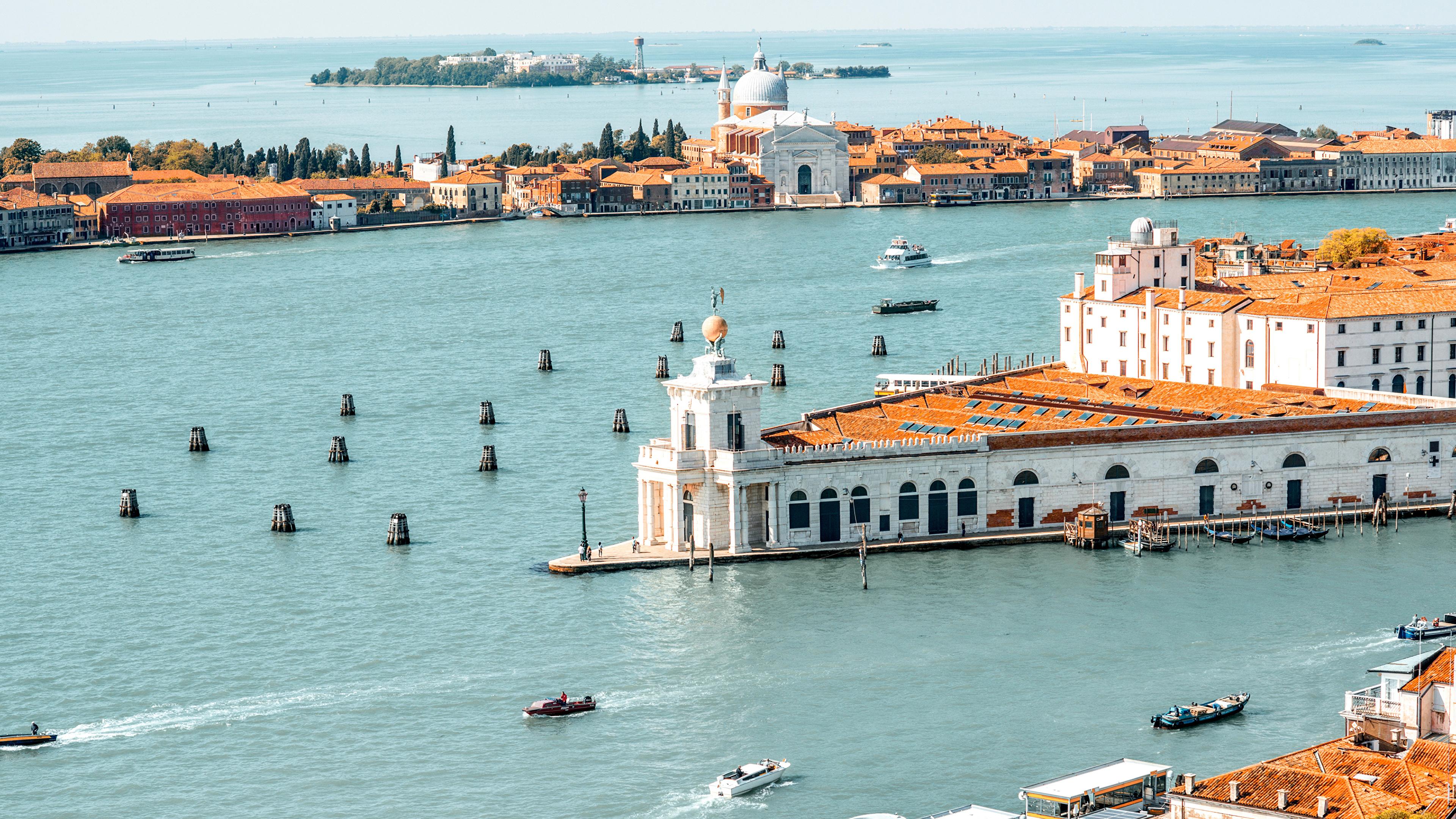 Wallpapers Venice Italy Sea Bay Marinas Motorboat Cities 3840x2160