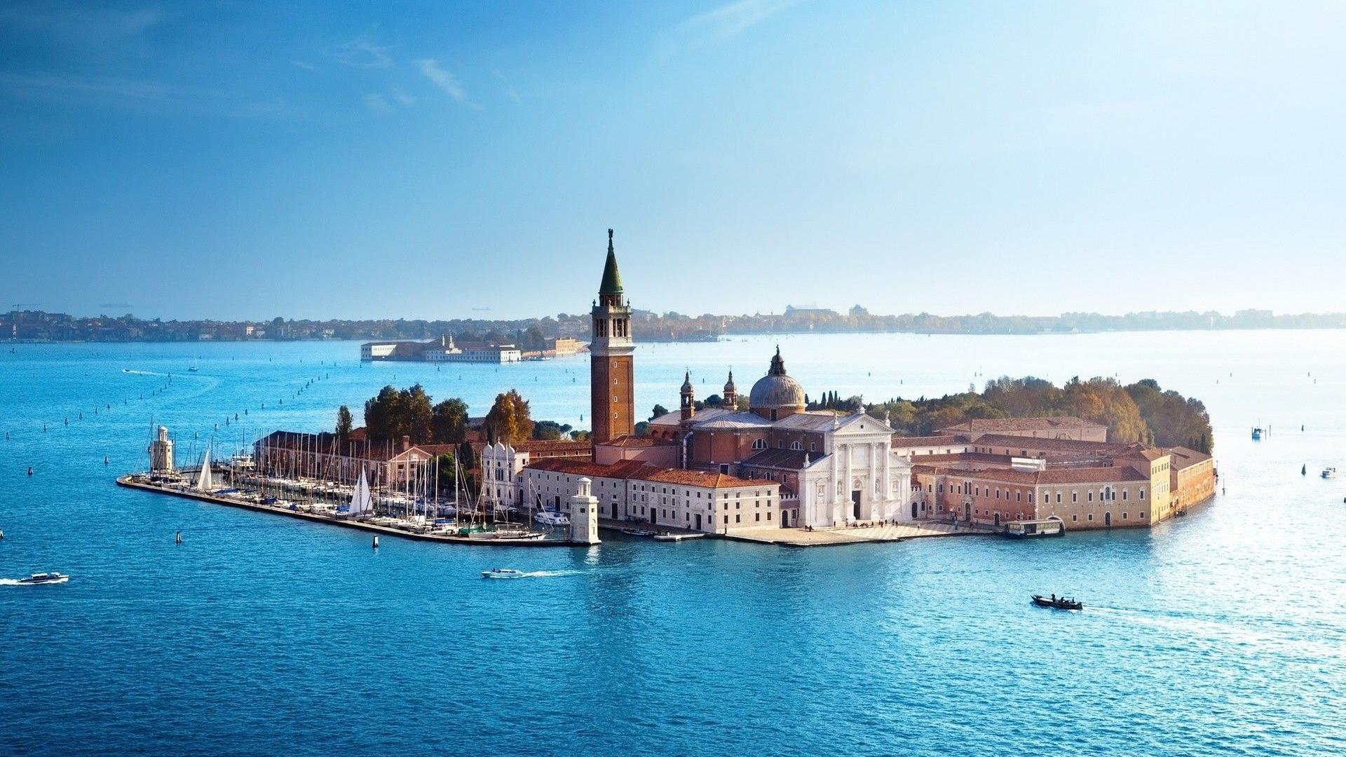 Download 1920x1080 Church Of San Giorgio Maggiore In Venice Bay ...