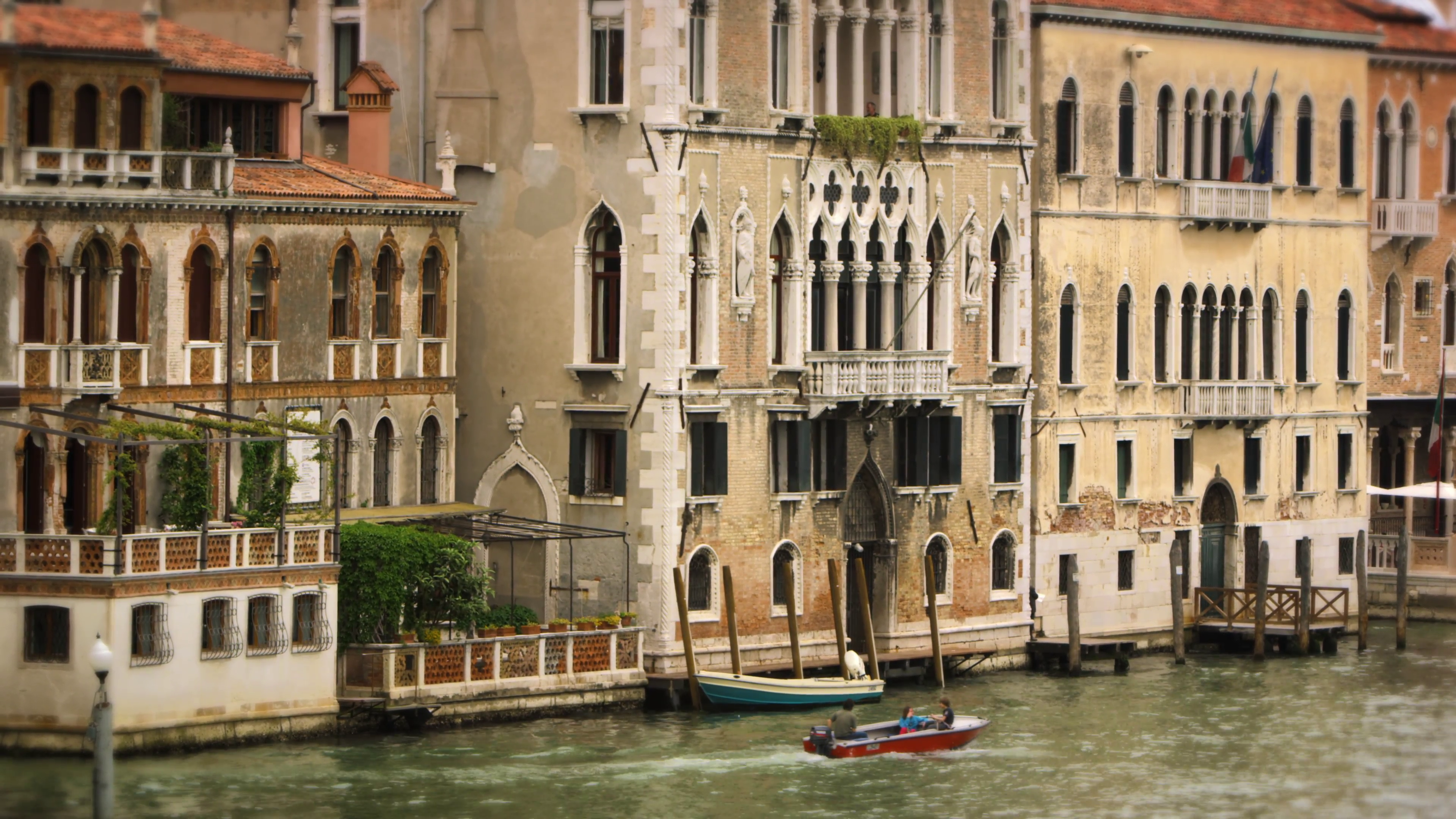 Boat passing by buildings in Venice Stock Video Footage - VideoBlocks
