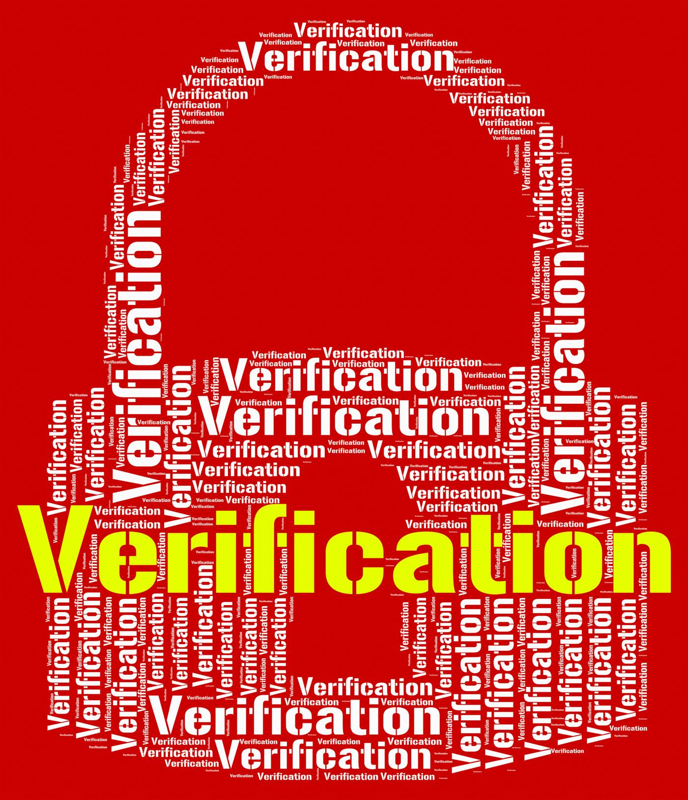 Verification lock indicates guaranteed authentic and authenticit photo