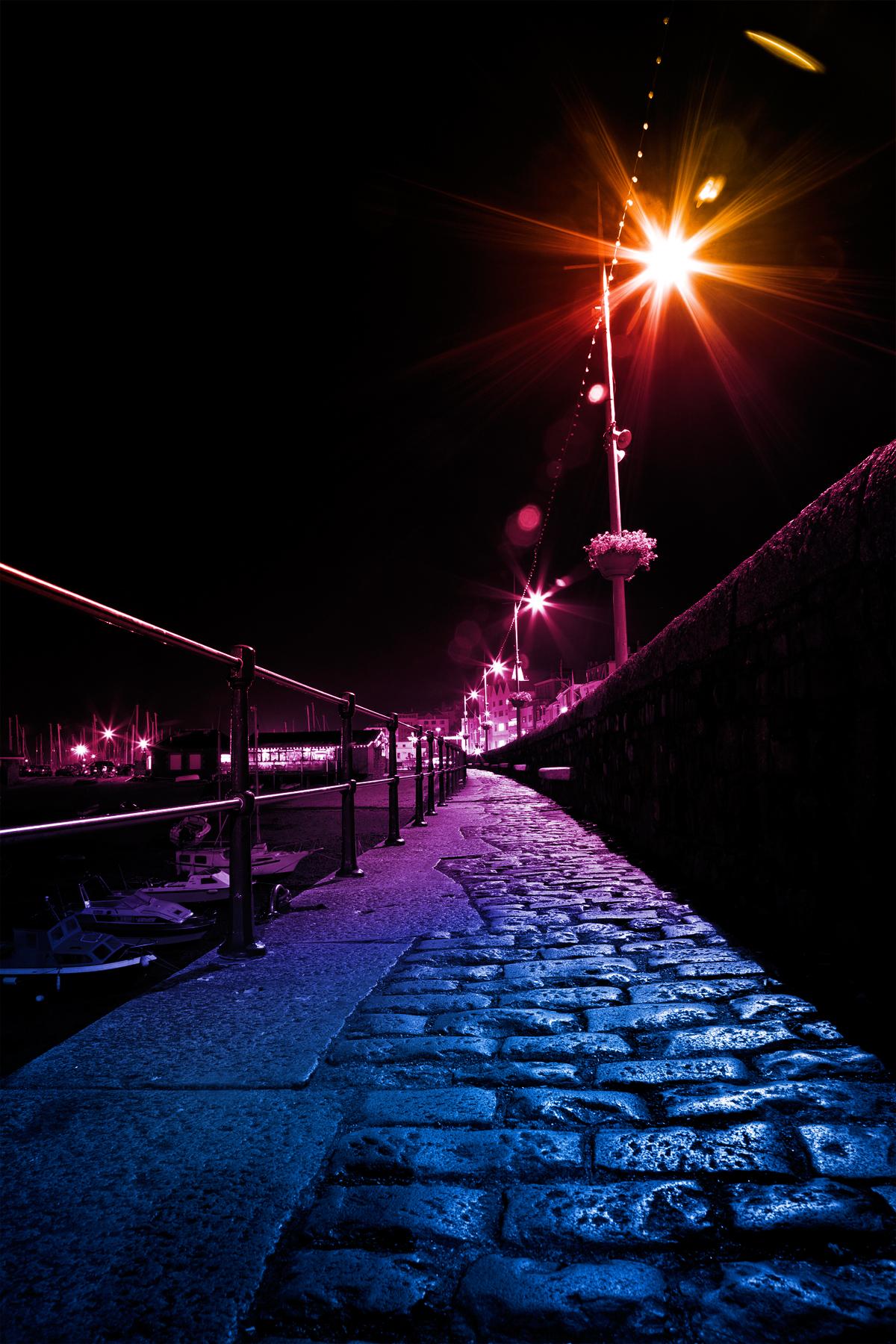 Vibrant lights of guernsey photo