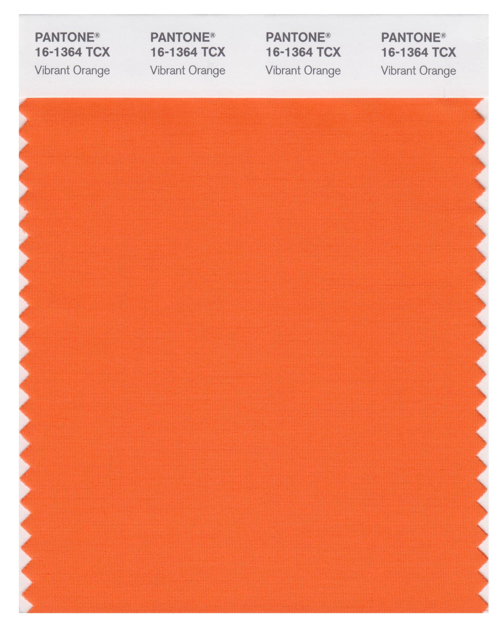 Pantone Smart 16-1364 TCX Color Swatch Card | Vibrant Orange ...