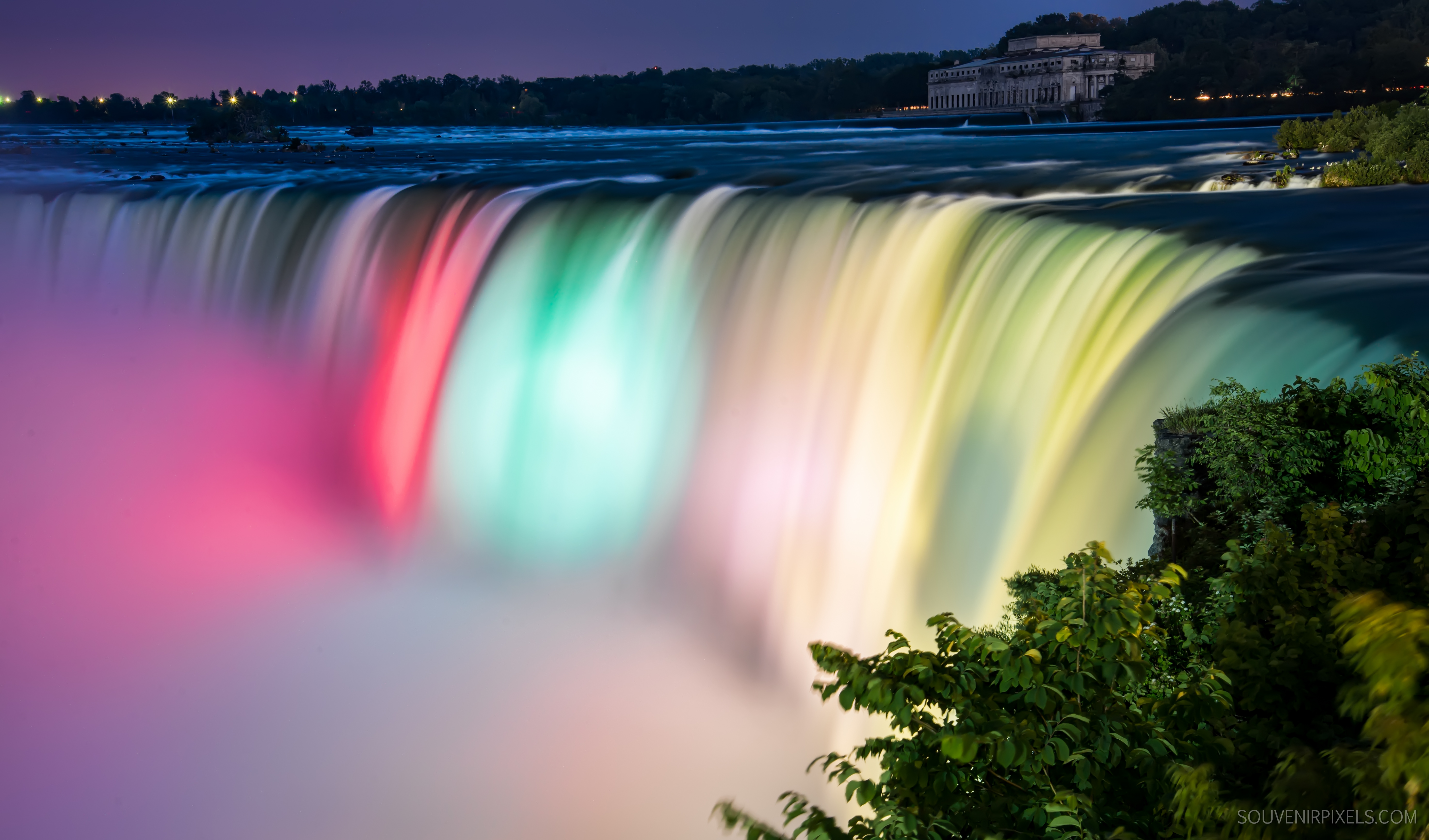 Wallpaper Niagara Falls, Colorful, Vibrant, Canada, 5K, World, #9256