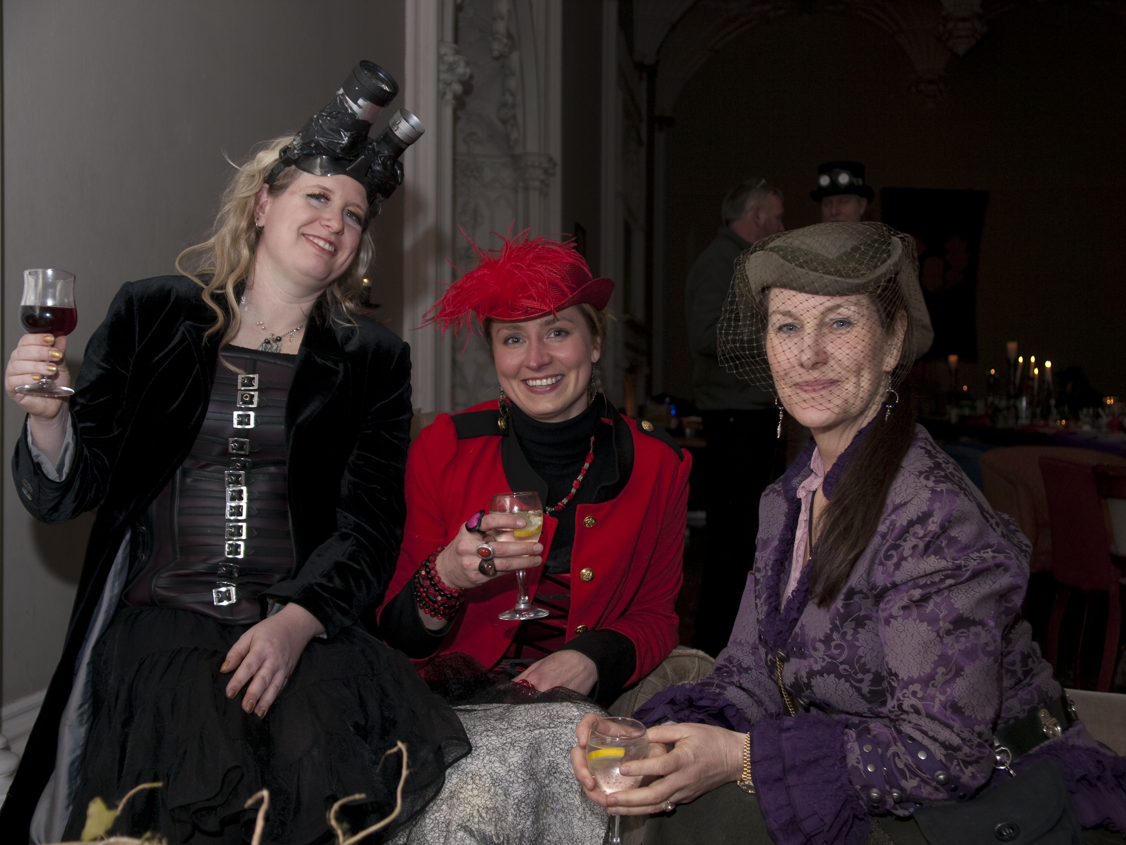 Victorian Steampunk Potluck, Groupshot, Indoor, People, HQ Photo