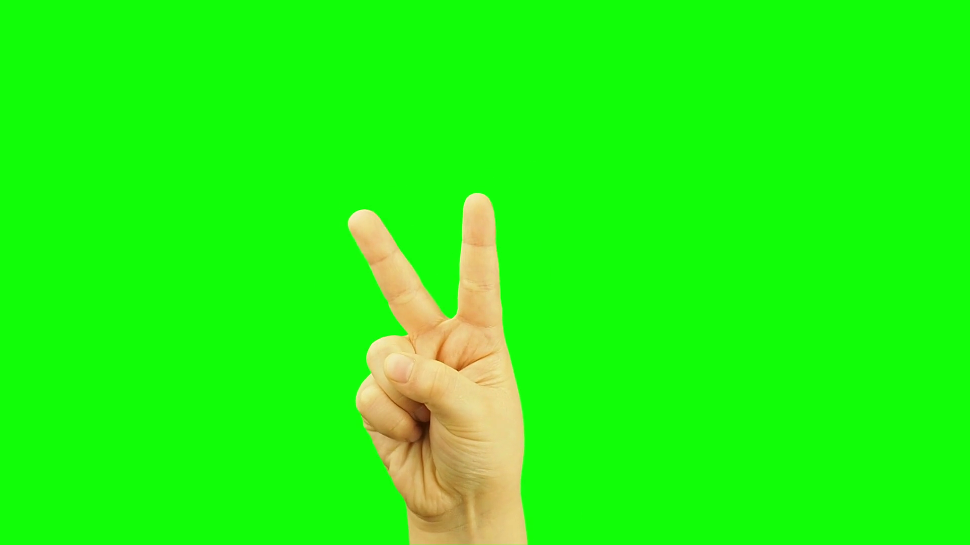 Victory sign hand photo