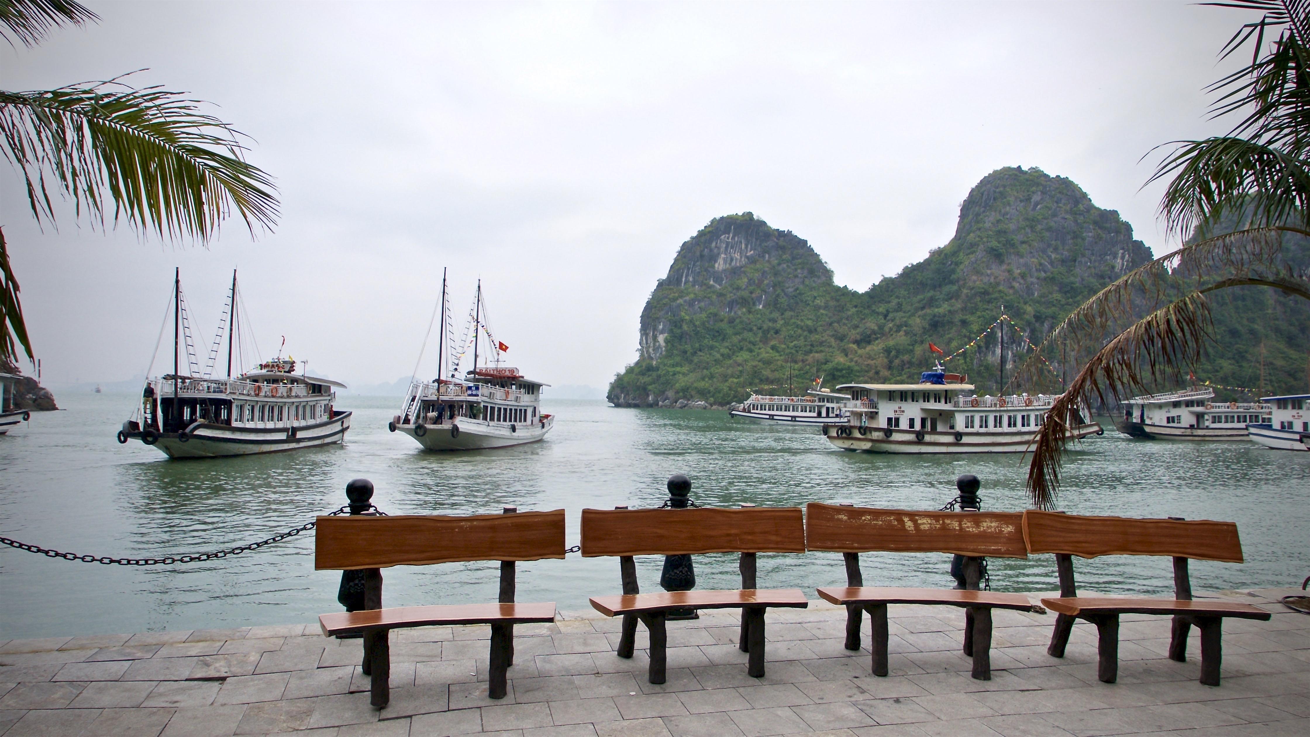 Vietnam ha long bay, grotte de la surprise photo