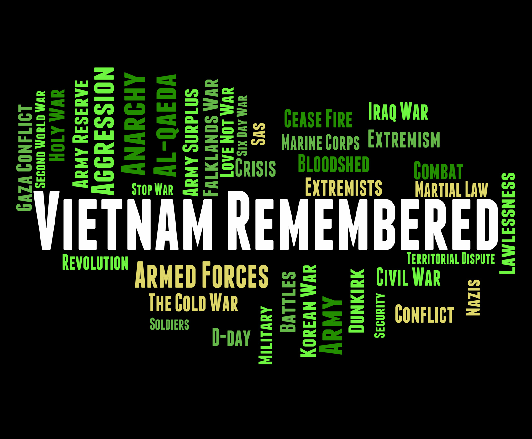 Vietnam remembered indicates north vietnamese army and america photo