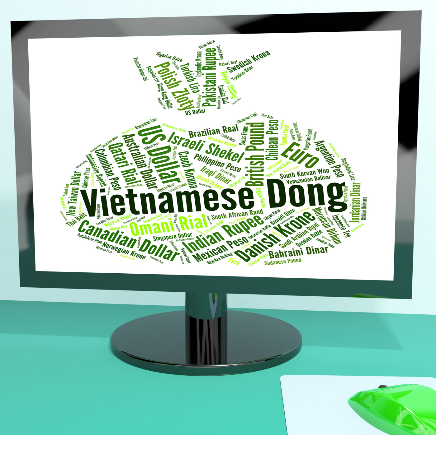 Vietnamese dong means foreign exchange and banknotes photo