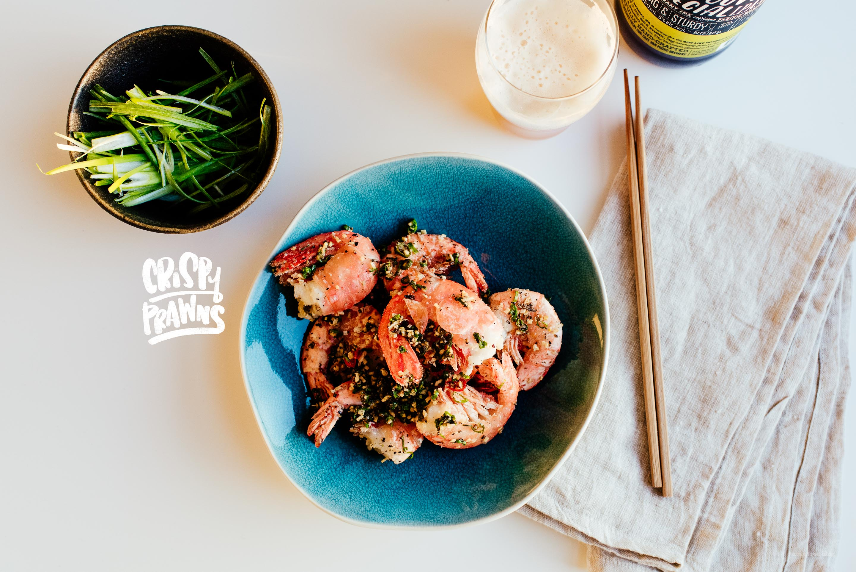 Crispy Vietnamese Roasted Salt Garlic Prawns Recipe · i am a food ...
