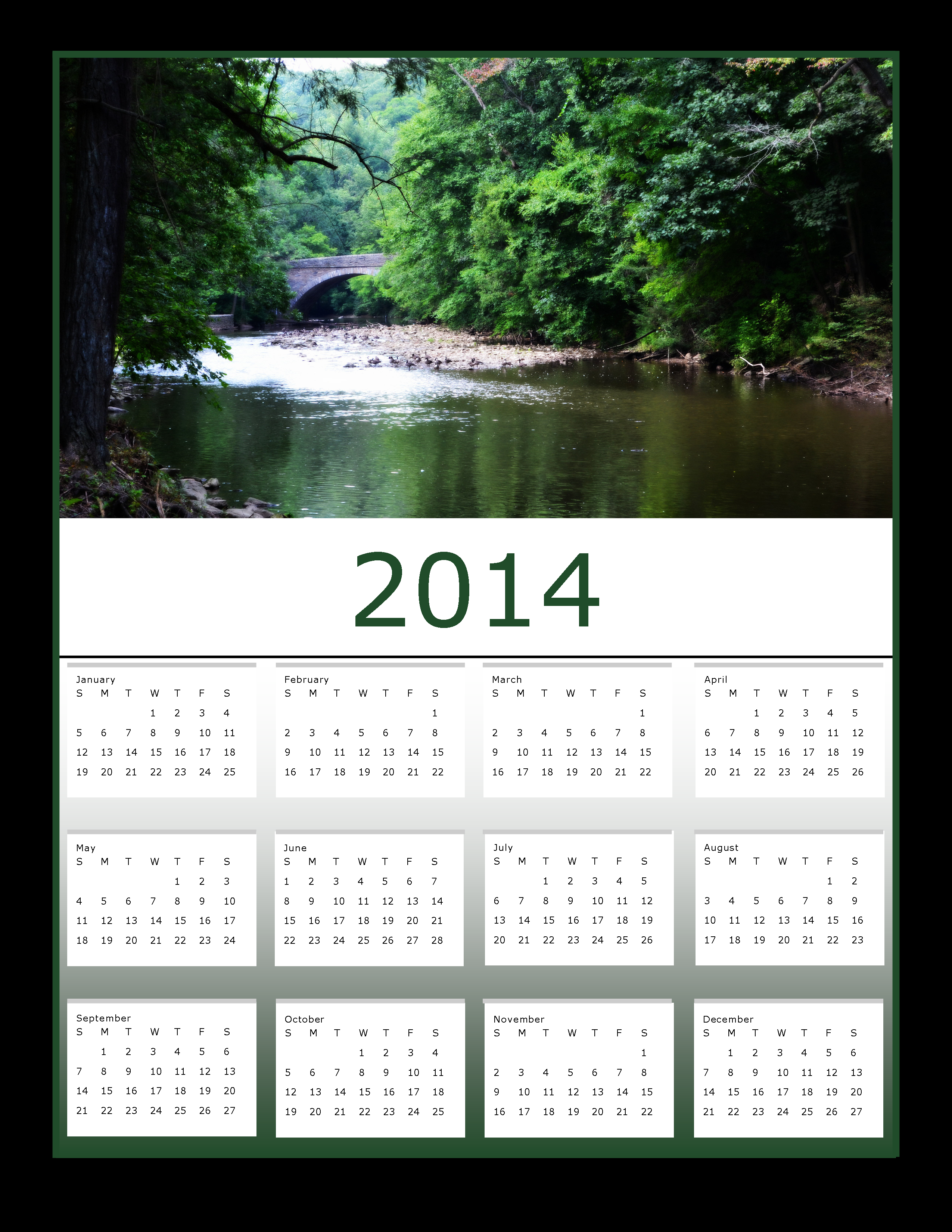 View at valley green 2014 calendar photo