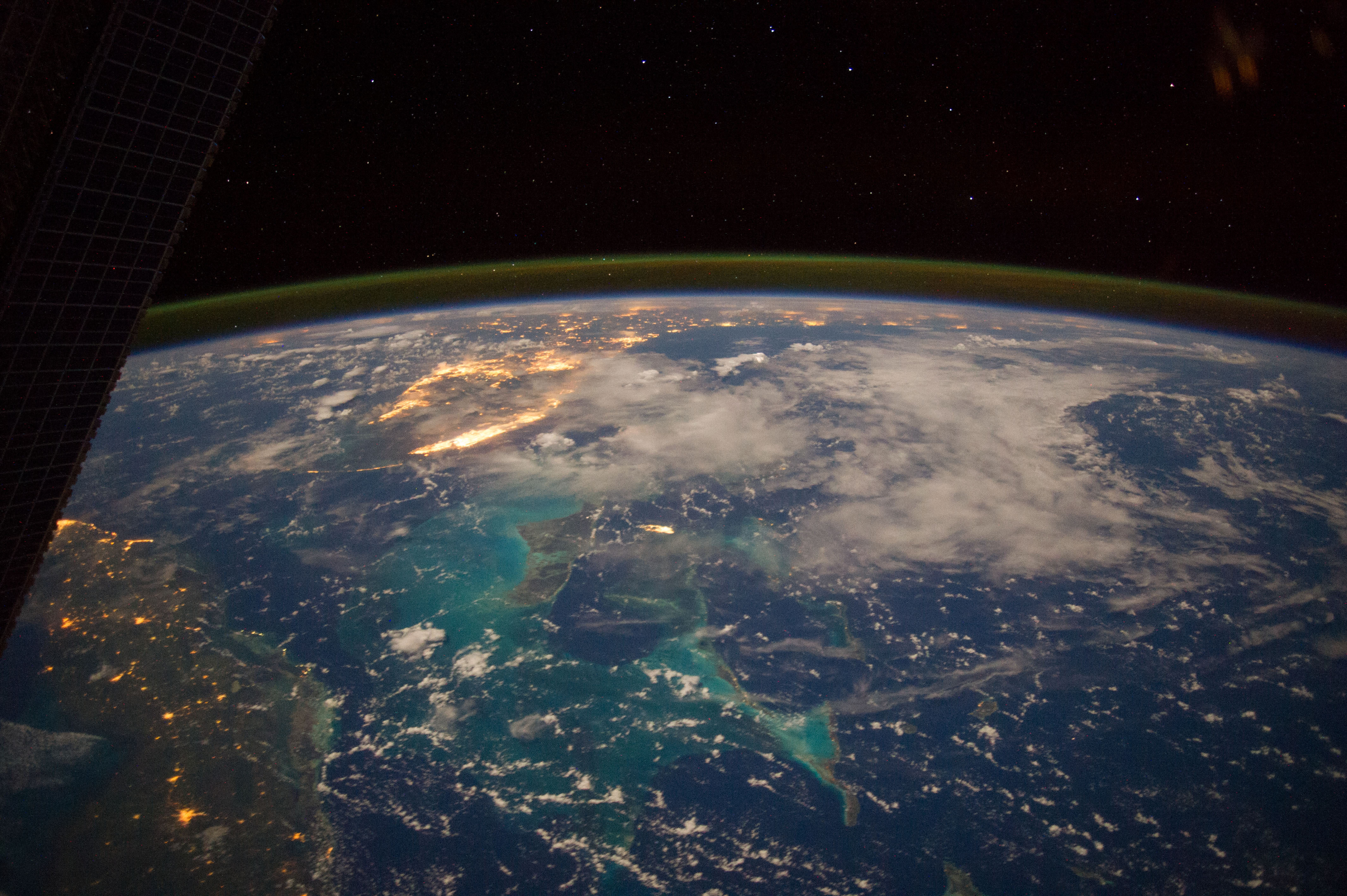 Bahamas: The view from the ISS.