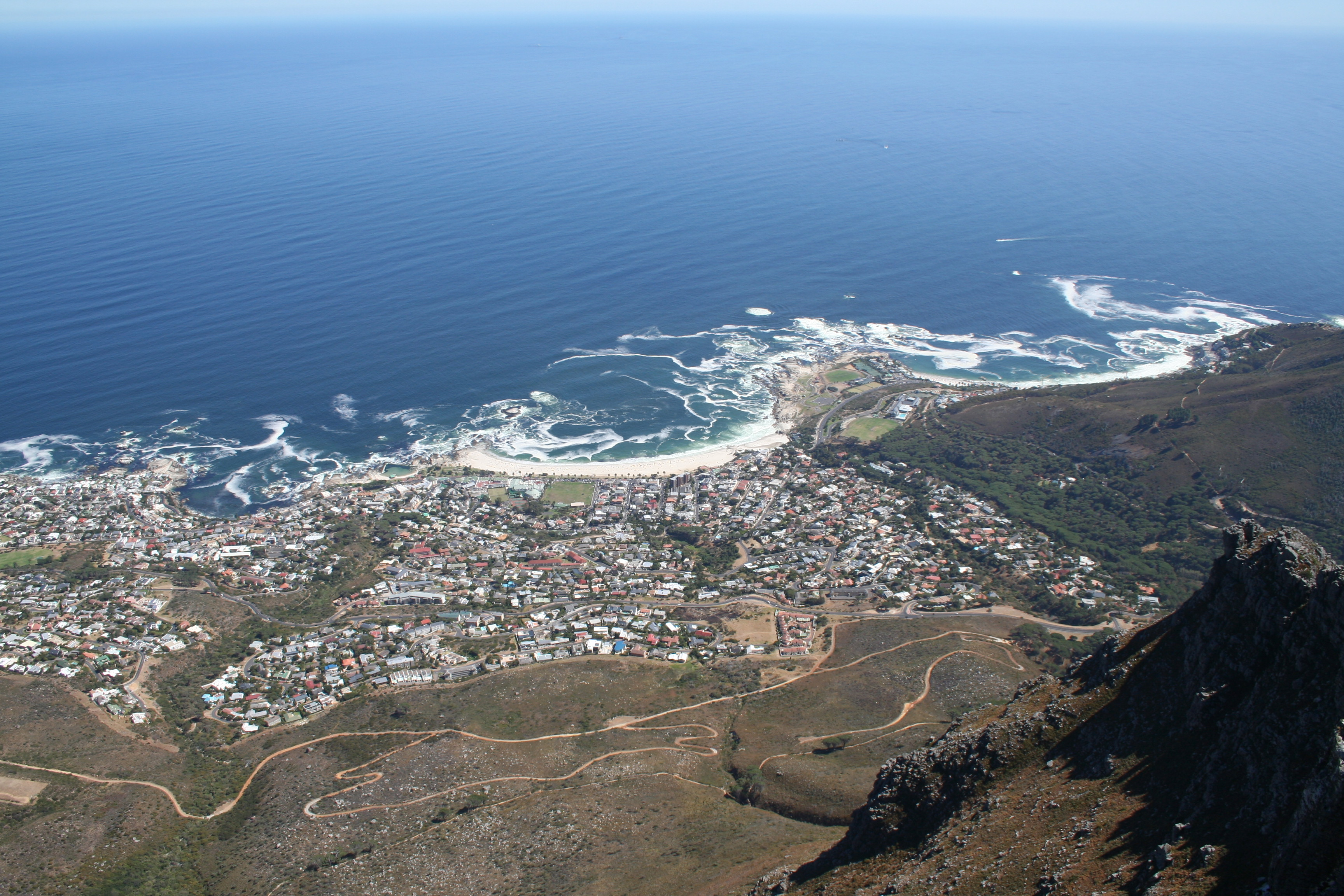 View from table mountain, Africa, Capetown, Landscape, Mountain, HQ Photo