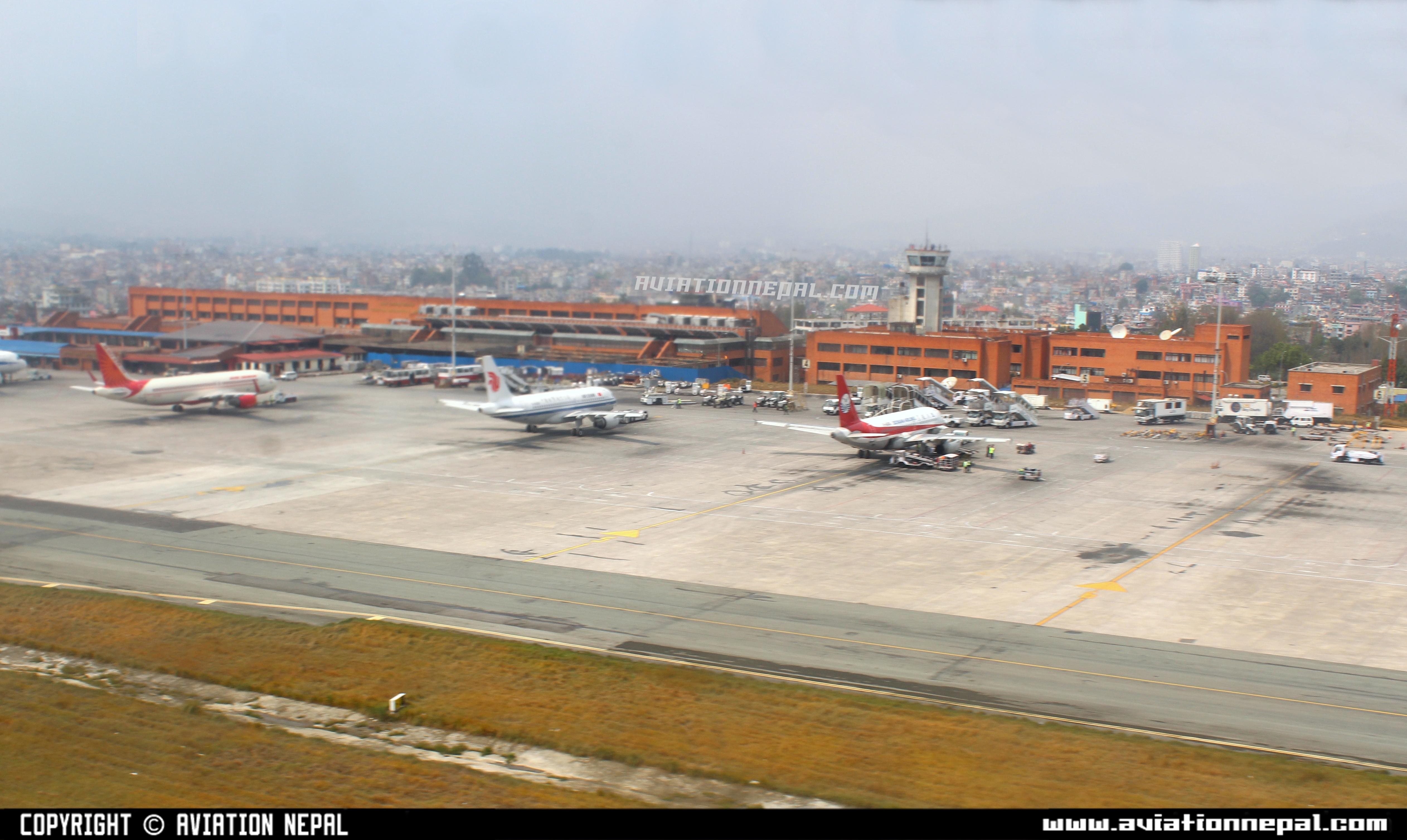 Aerial View Tribhuvan International Airport International Ramp ...