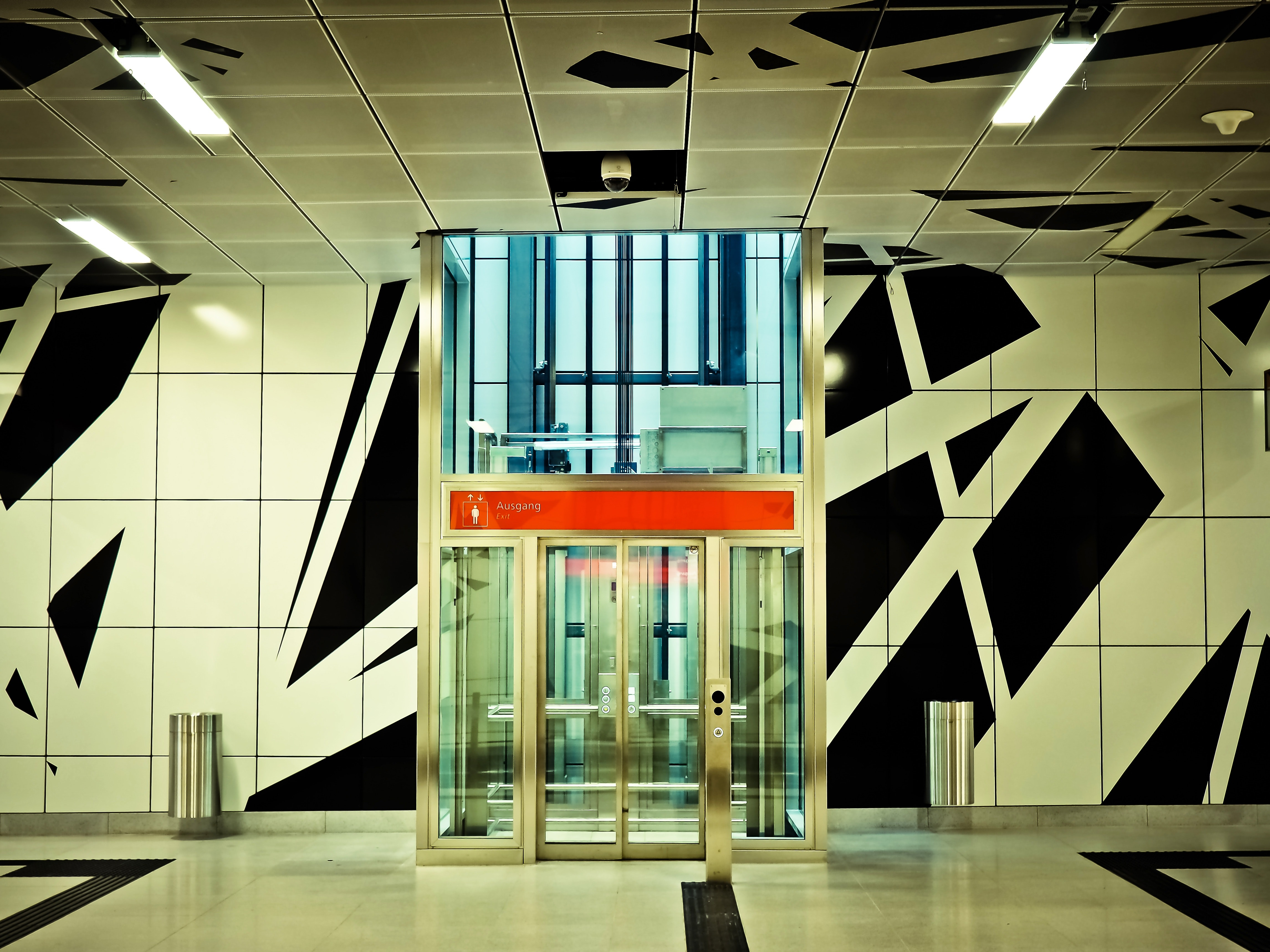 View of Building Interior, Modern, Window, Underground, Travel, HQ Photo