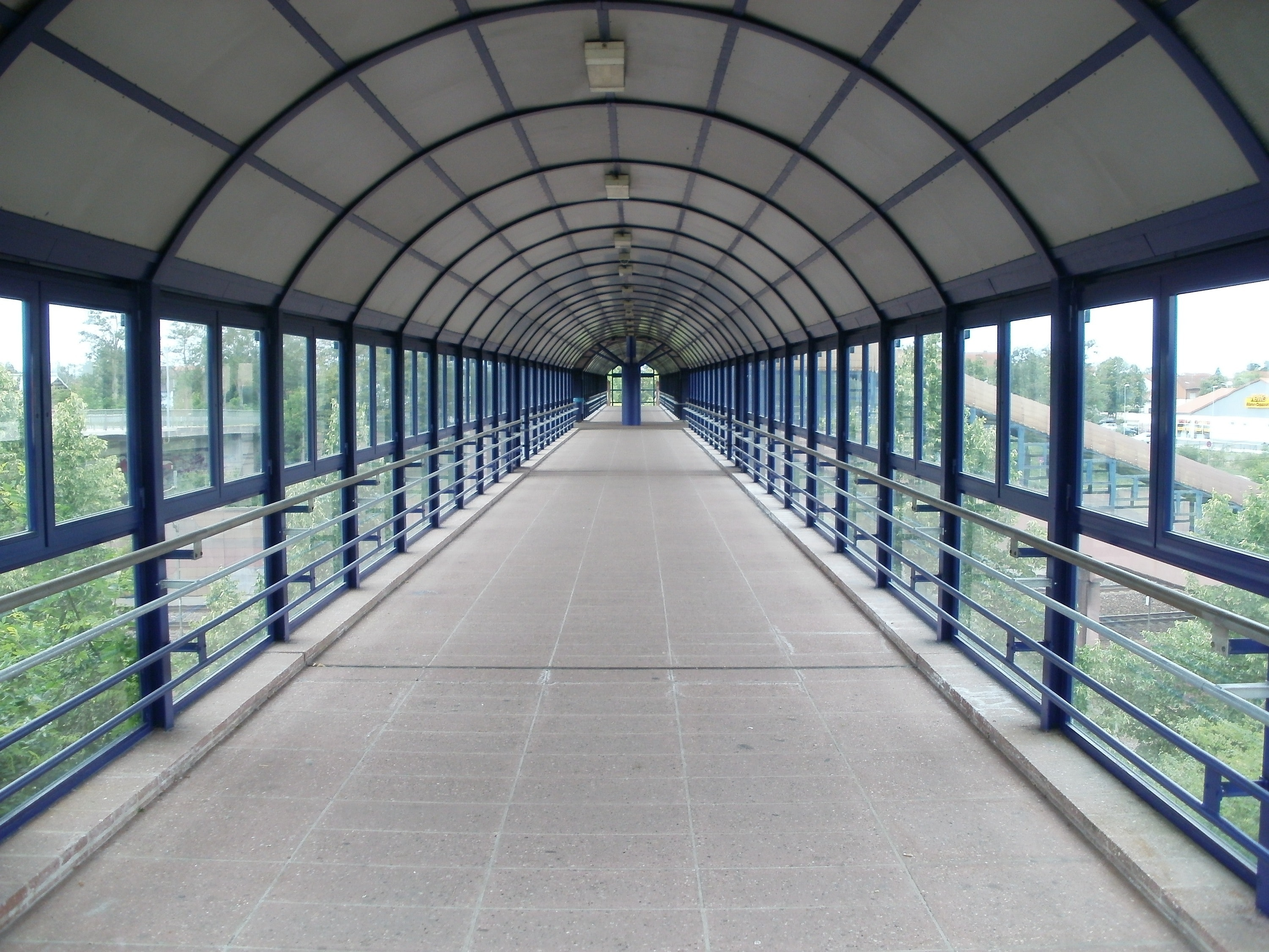 View of Greenhouse, Architecture, Bridge, Crossing, Passage, HQ Photo