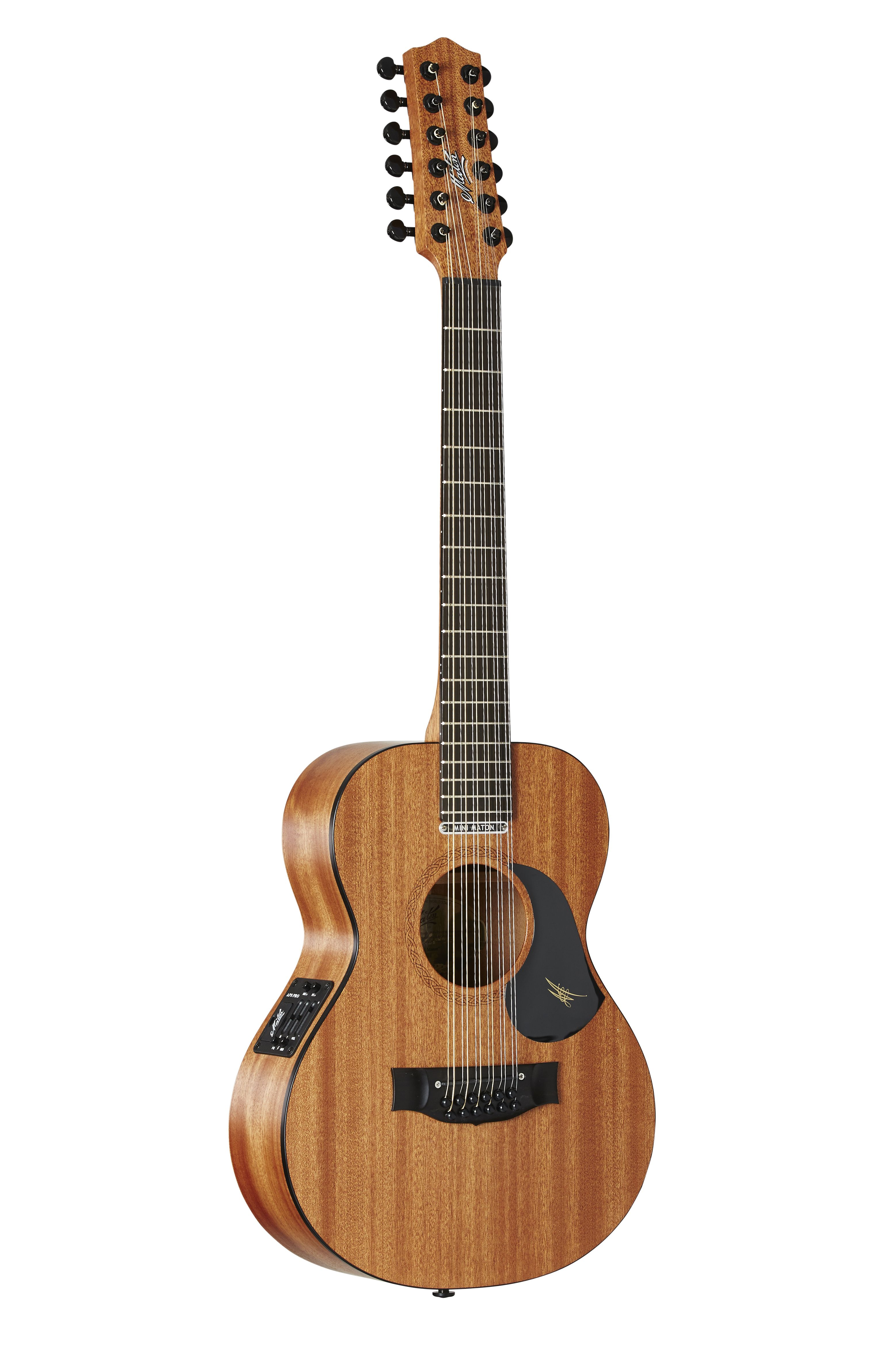 Australian, Handmade, Acoustic EMM 12 from Maton Guitars. Side View ...