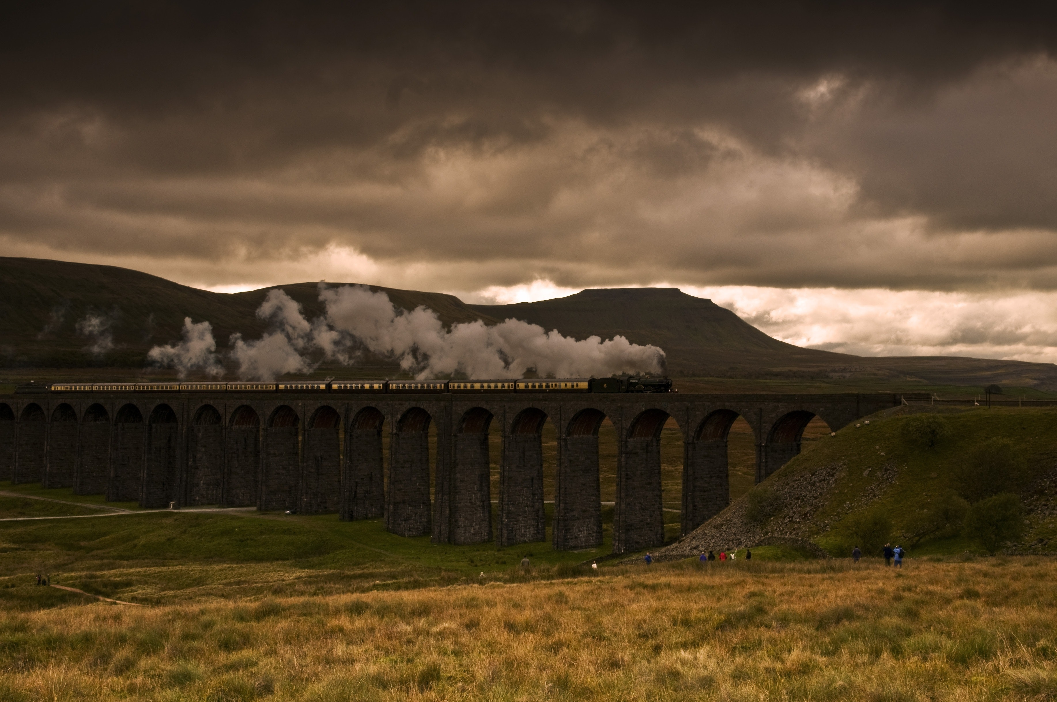 View of Landscape Against Cloudy Sky, Architecture, Nature, Travel, Train, HQ Photo