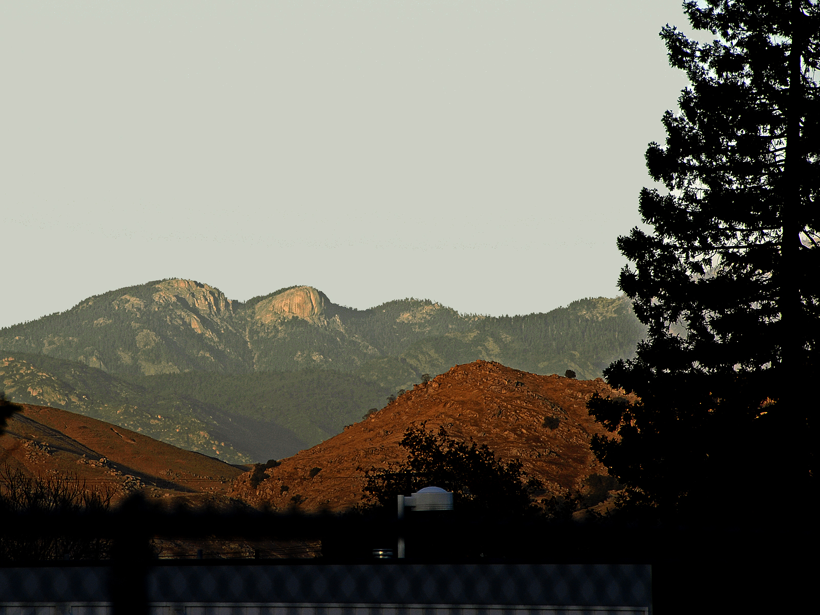 View of morro rock in sequoia national p photo