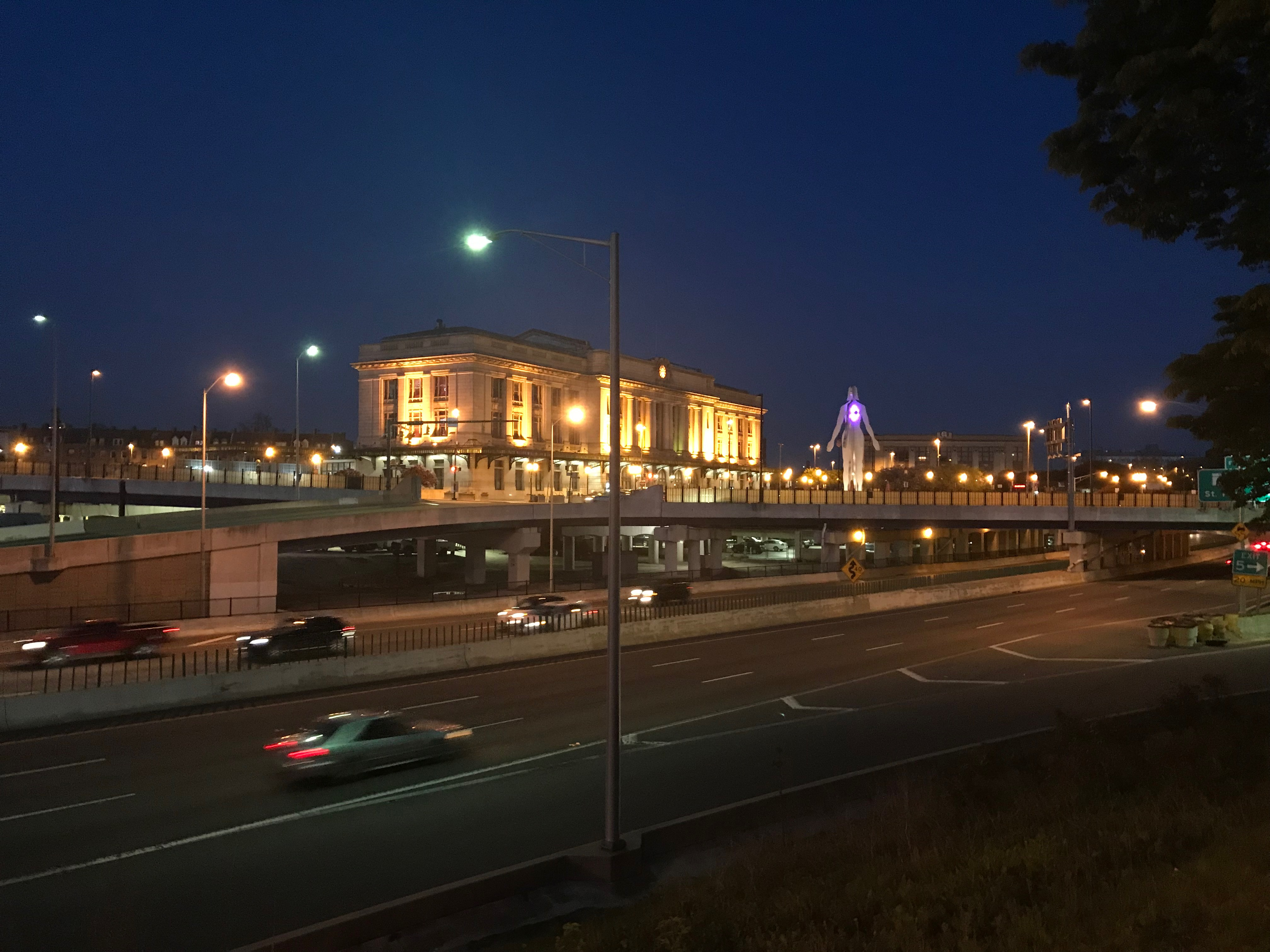 View of penn station (1910) and i-83 from maryland avenue, baltimore, md photo