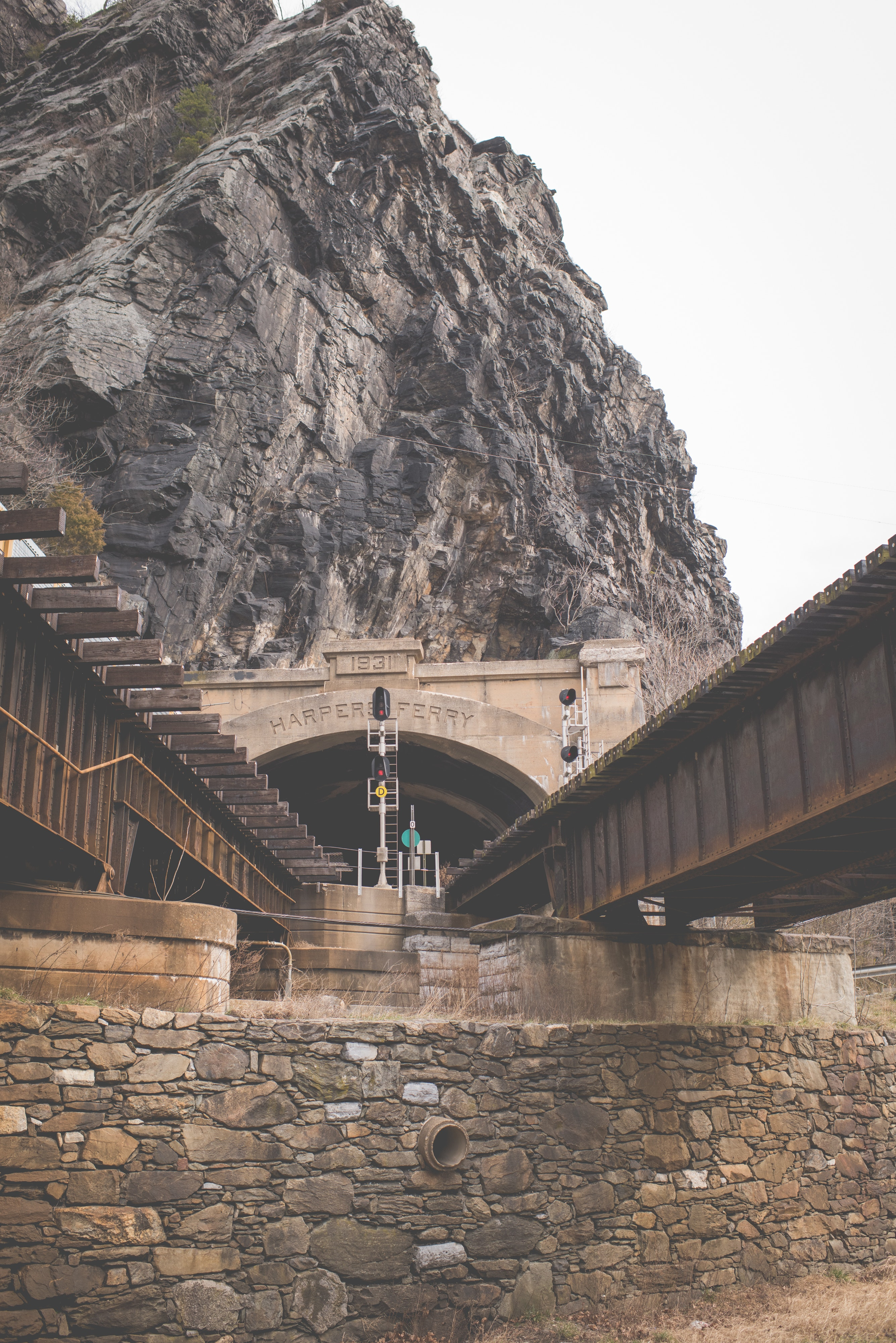 View of steps leading towards mountain photo