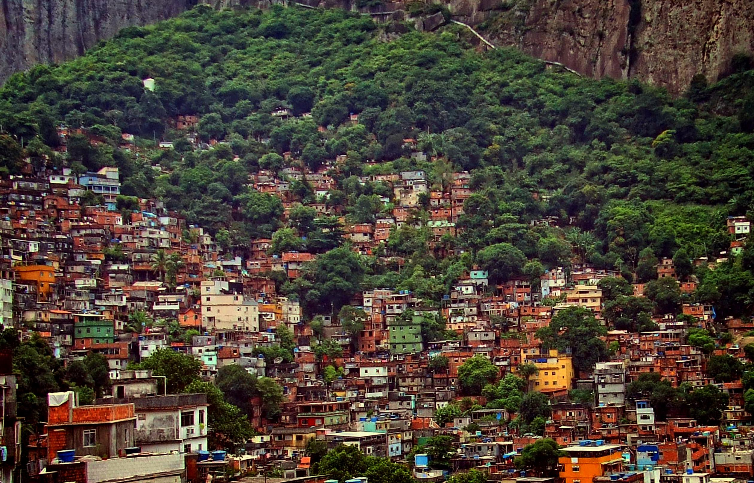View over rocinha - the largest slum in latin america - rio de janeiro photo