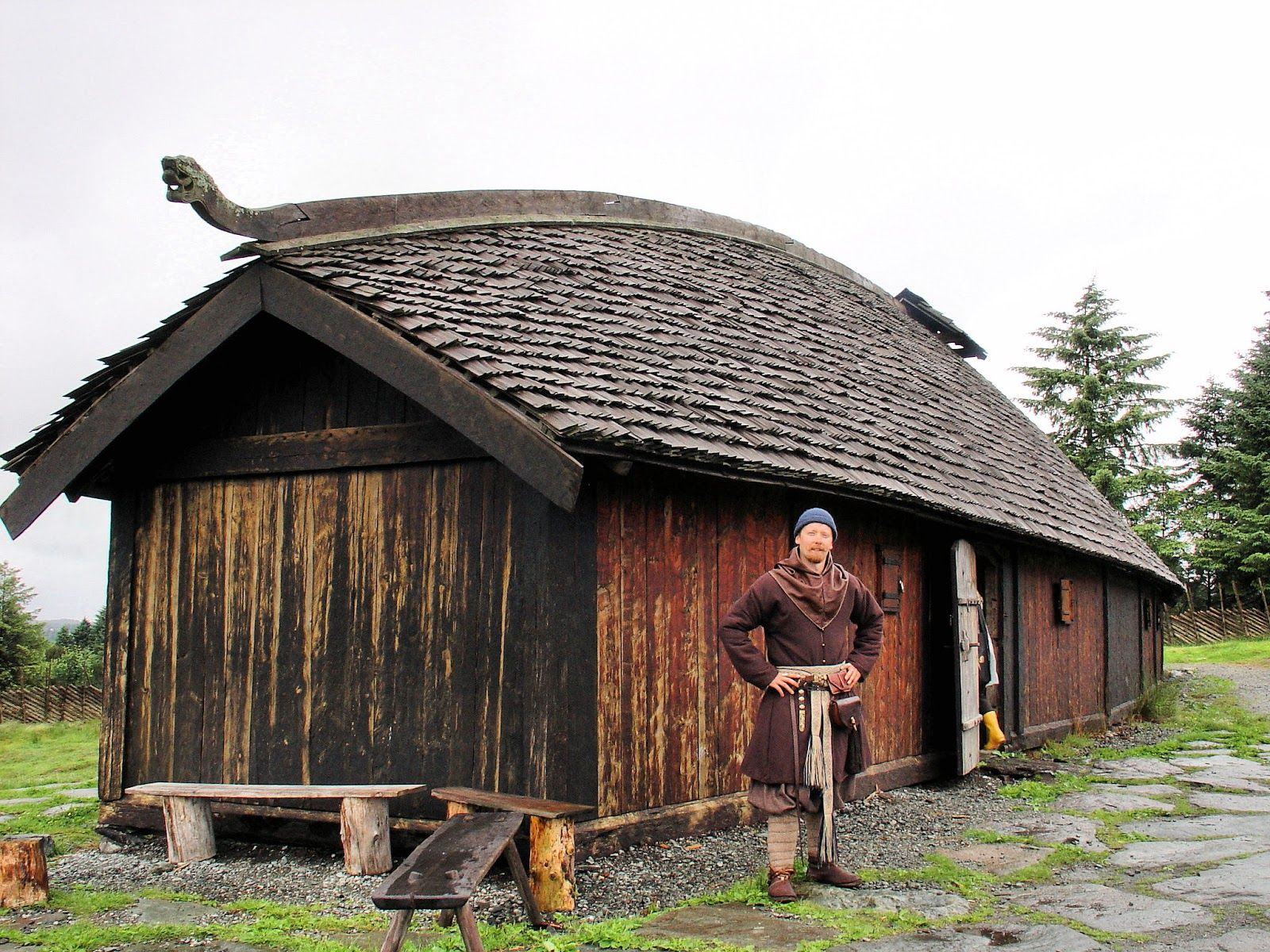 Viking longhouse replica.... Well, a smaller type of longhouse, but ...