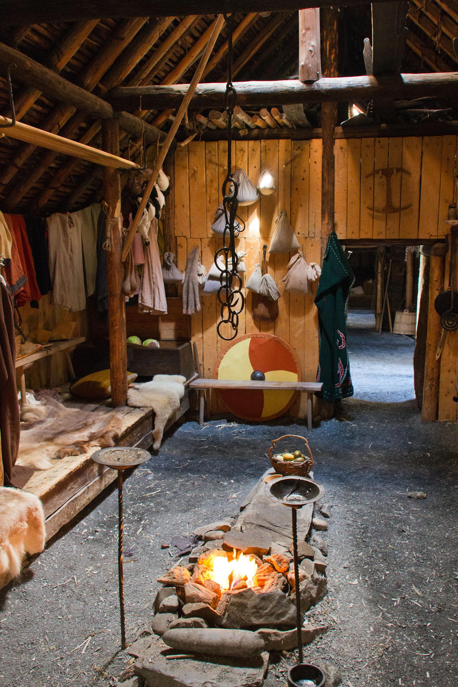 Viking longhouse, Rural, Scandinavia, Scandinavian, Scene, HQ Photo