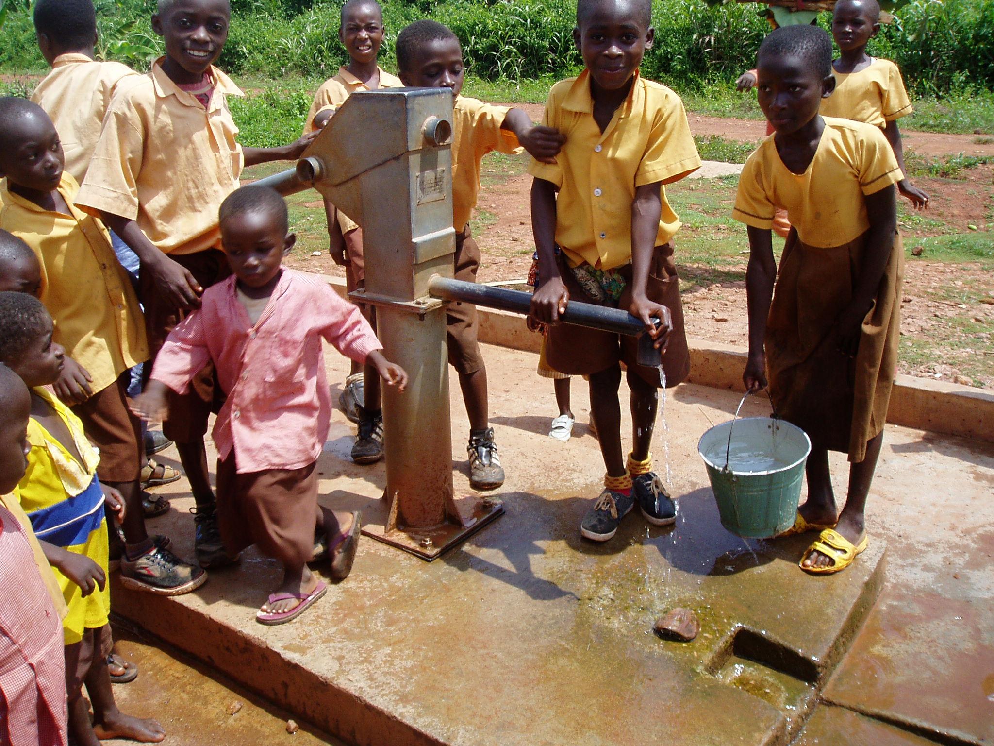 Village water pump photo