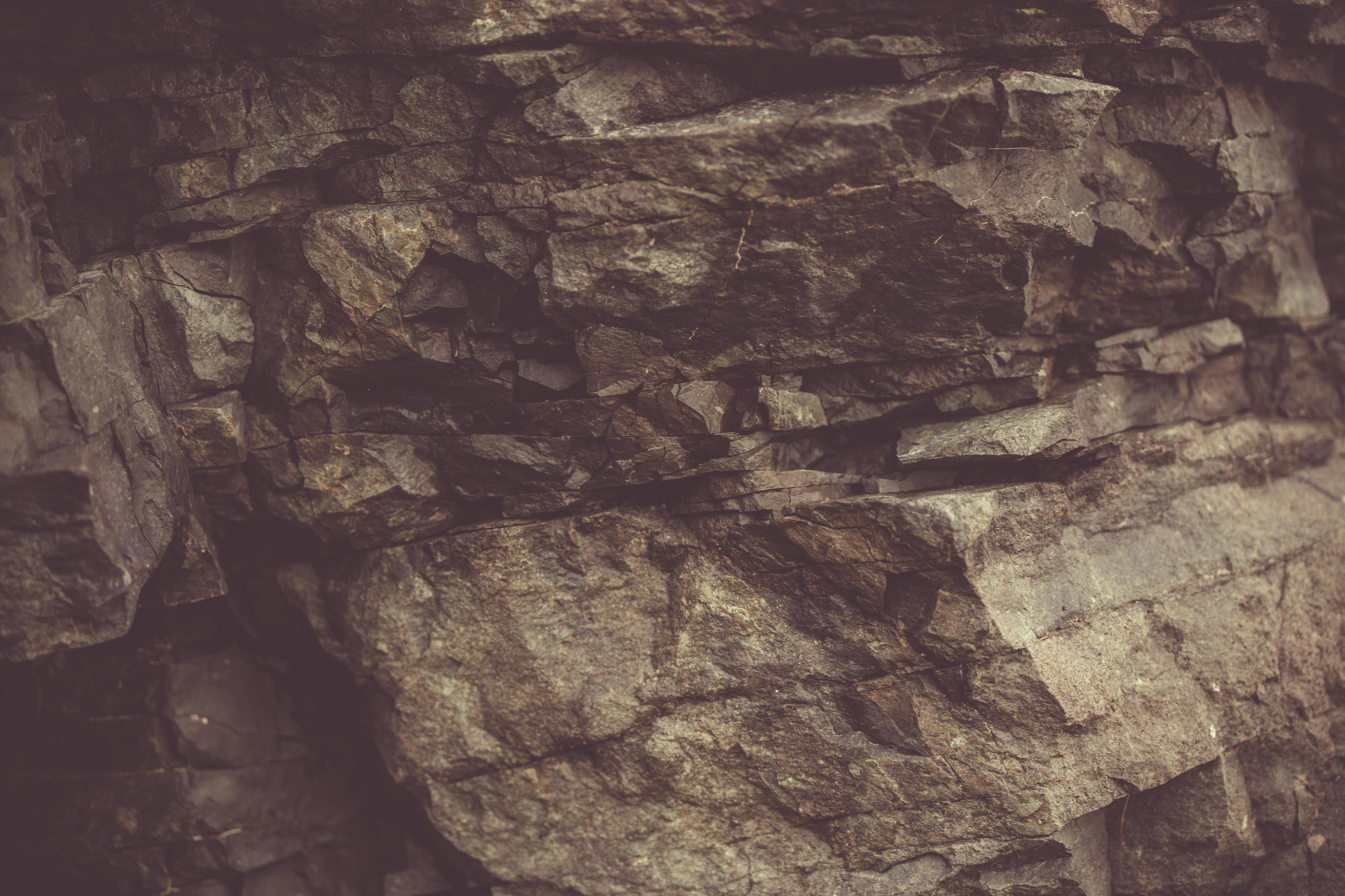 Vintage basalt rock photo