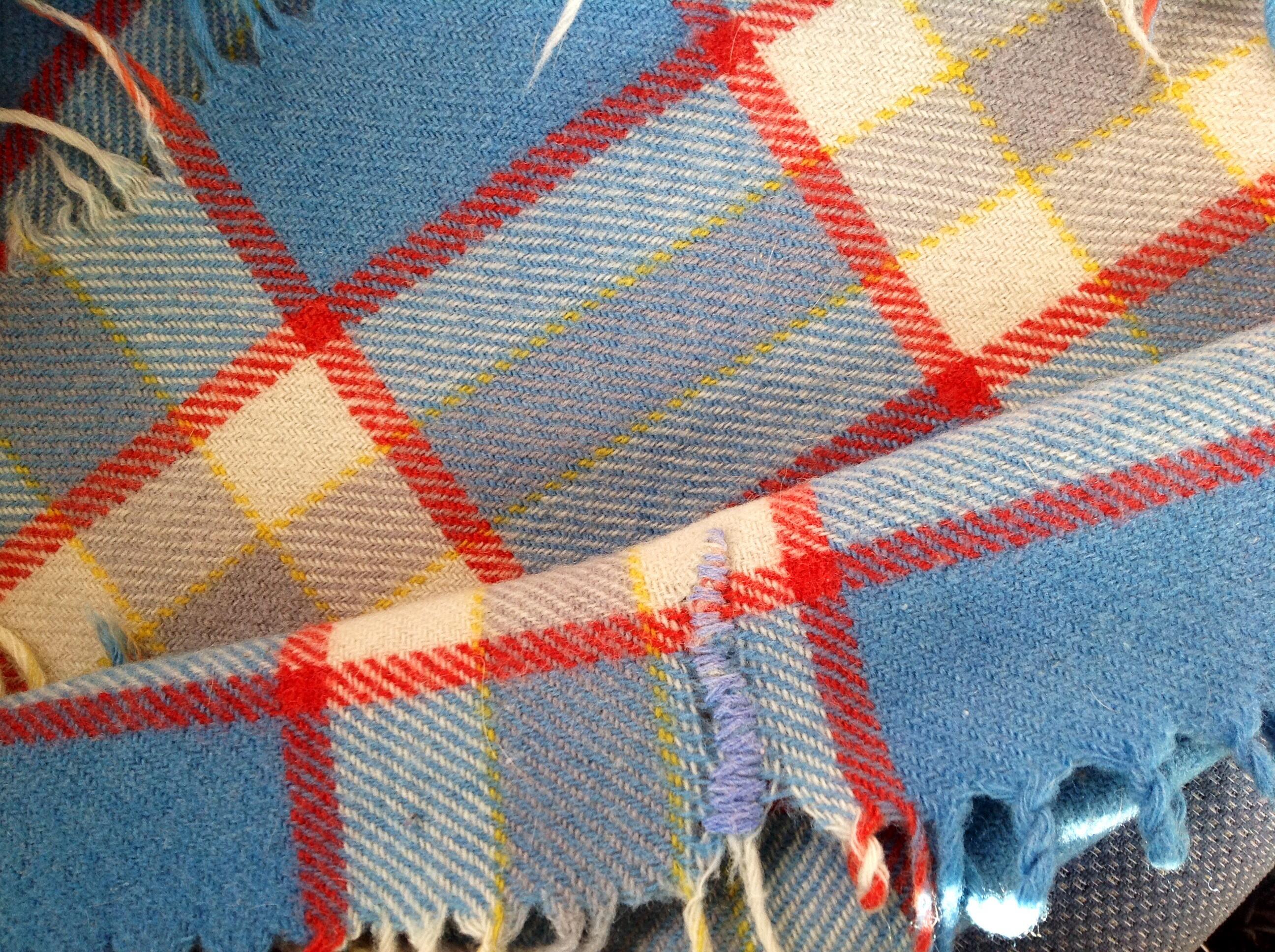 Vintage Blanket Destroyed!   Noddfacrafts