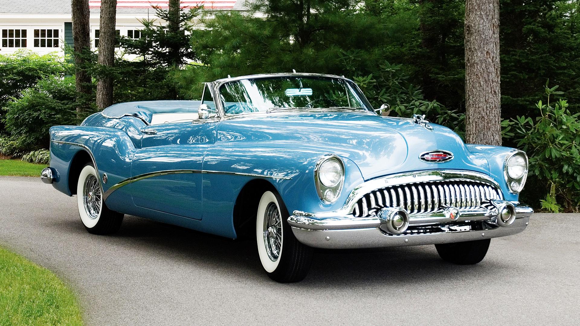 Vintage blue car photo