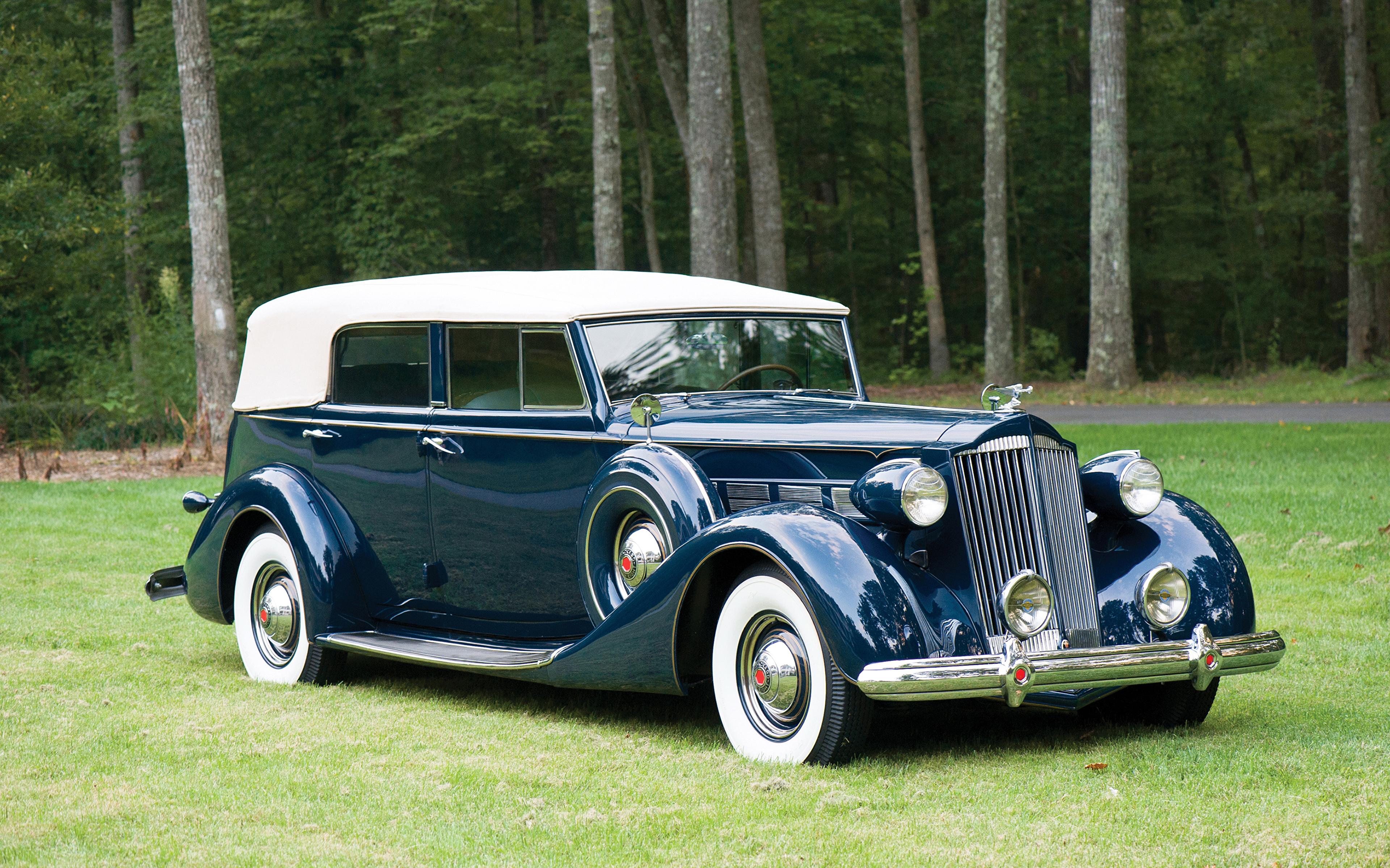 Image 1937 Packard Super Eight Convertible Sedan Blue 3840x2400