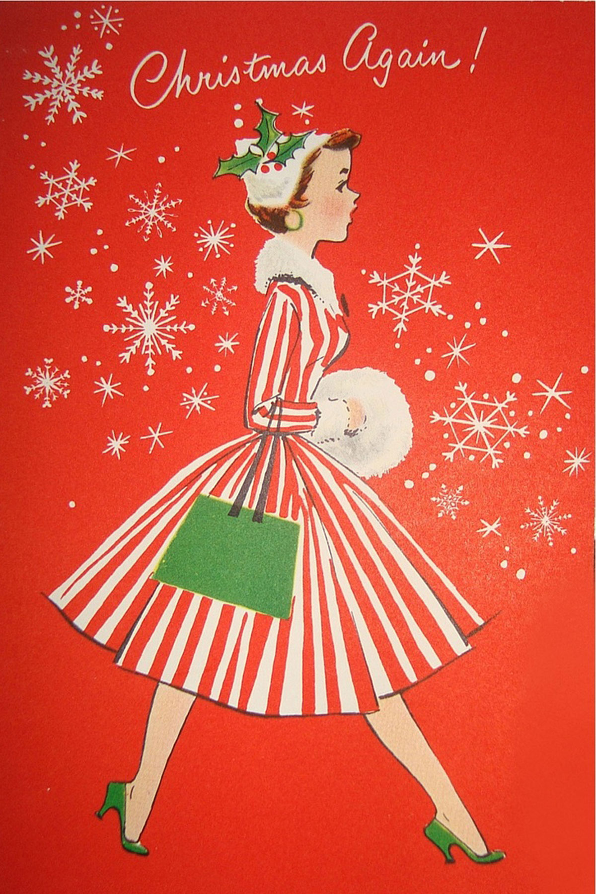 Vintage christmas card photo