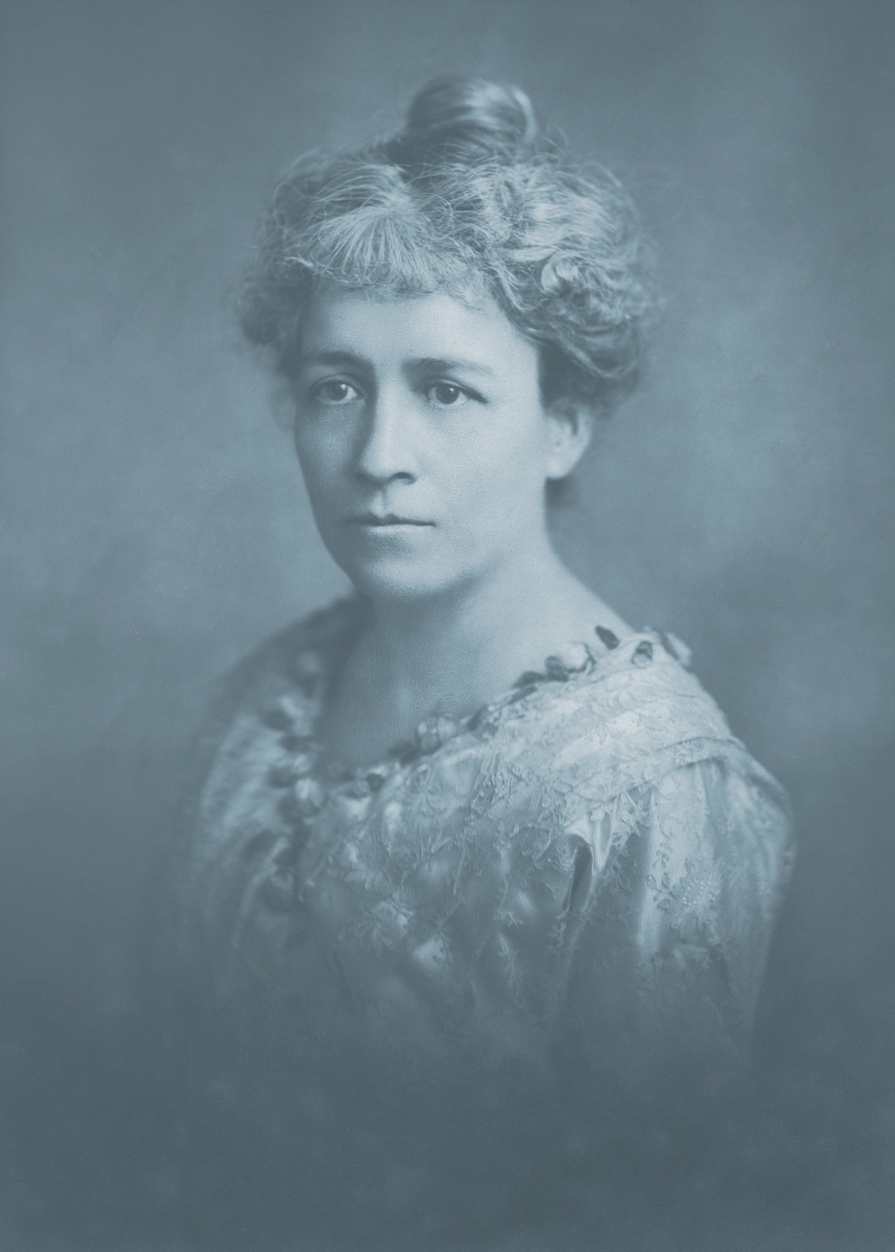 Vintage cyanotype portrait - circa 1918 photo