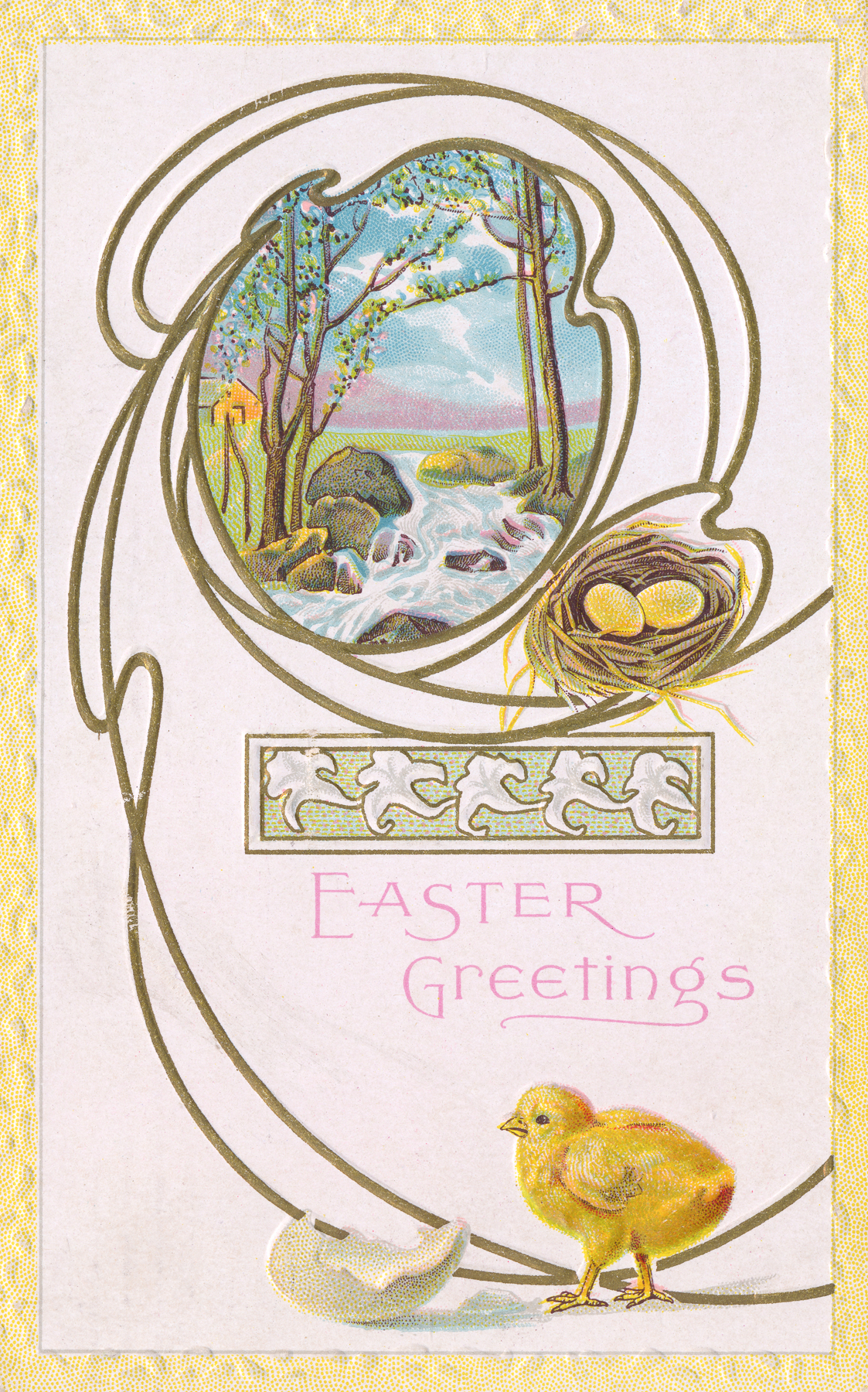 Vintage easter greeting card photo