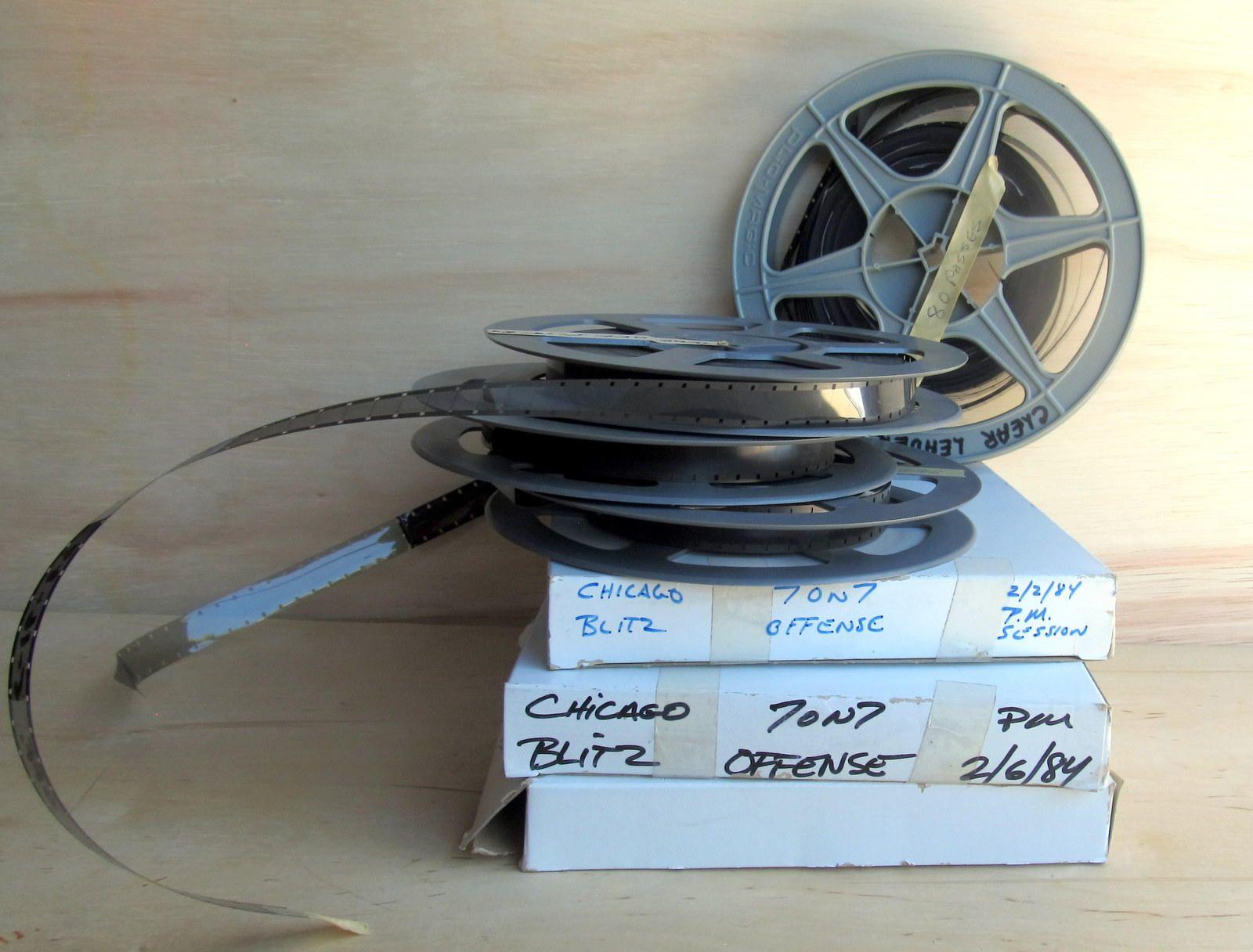 Chicago Blitz, old film rolls canister, vintage shabby, film prop ...