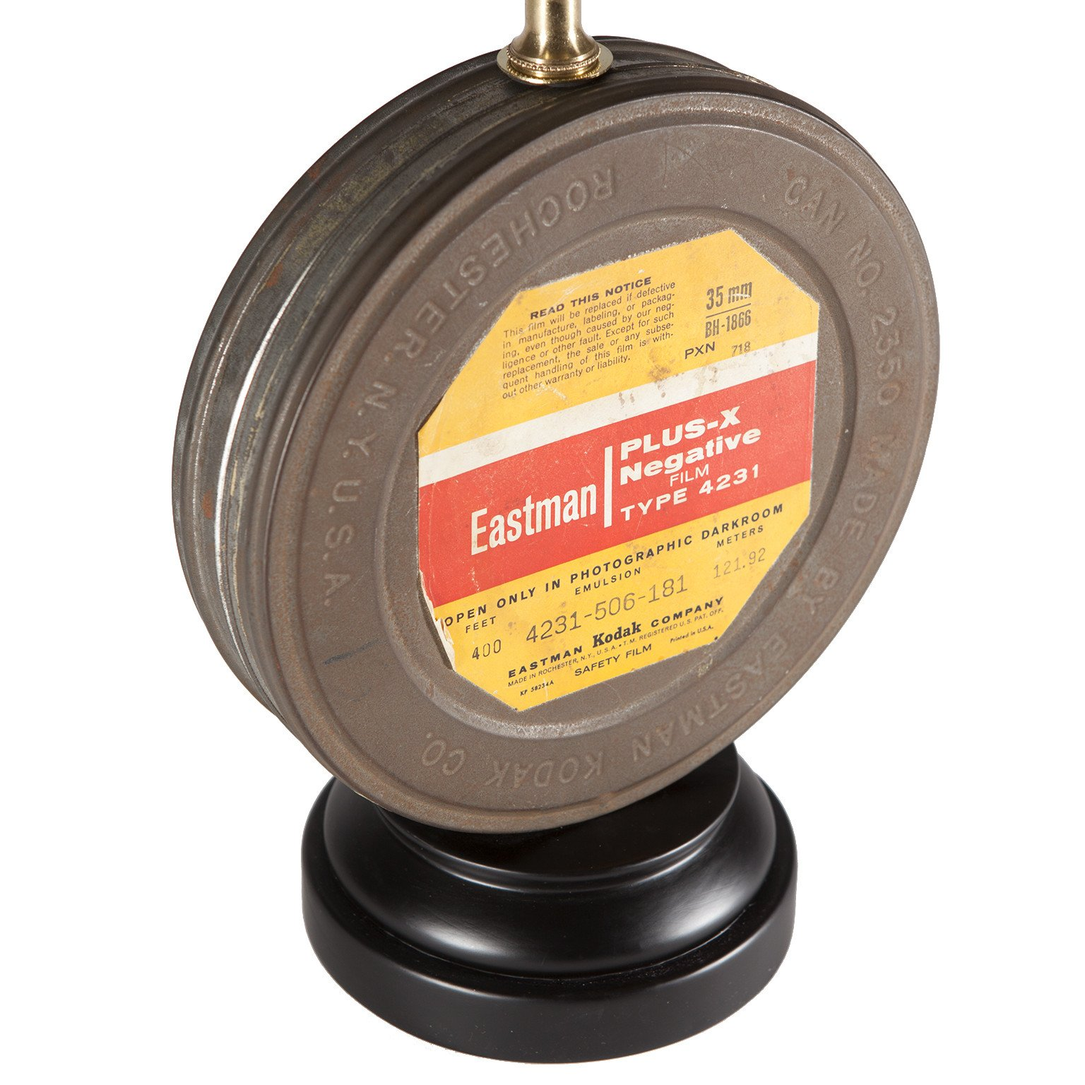 XX Vintage Eastman Film Canister Tin Lamp