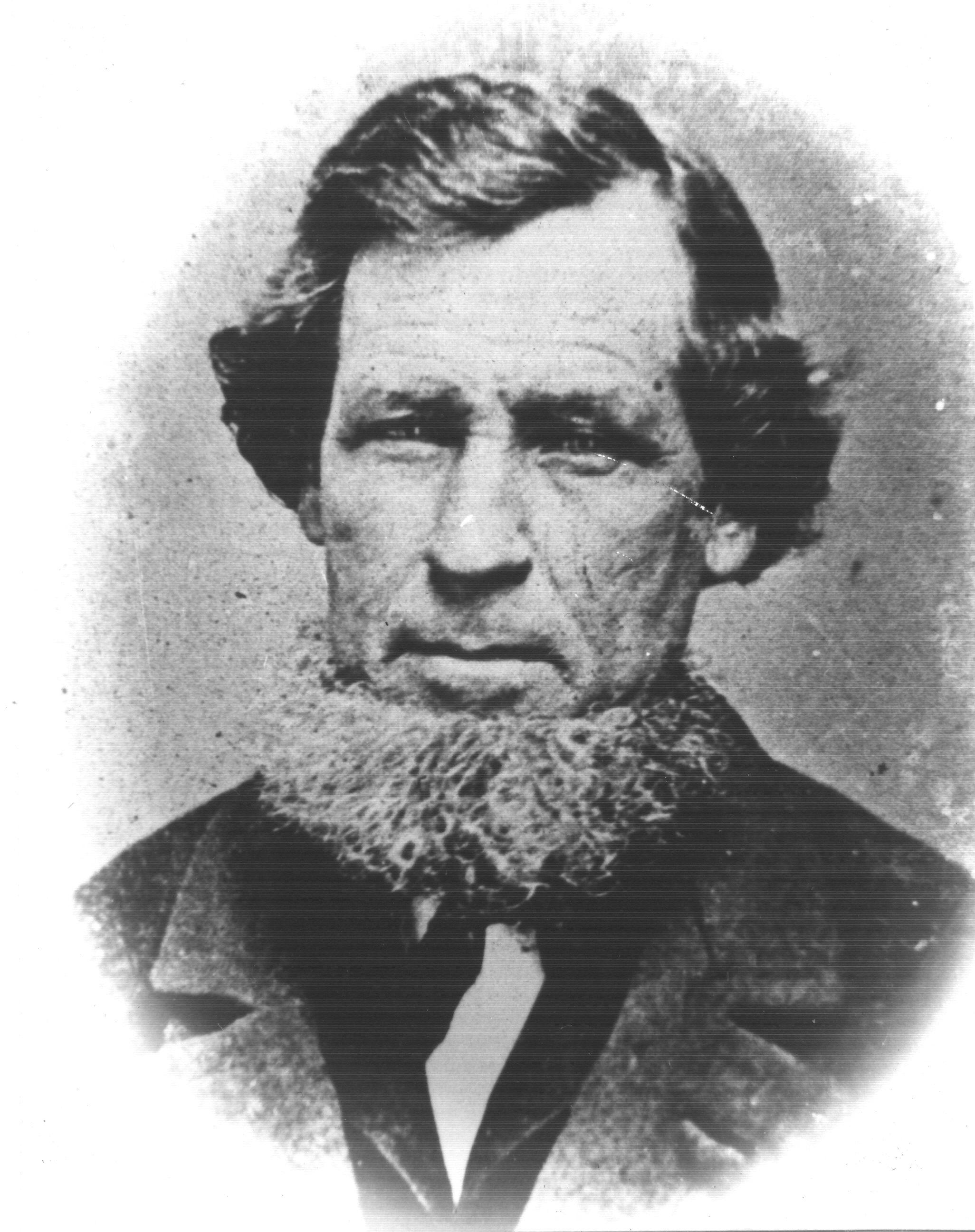 Vintage man with beard photo