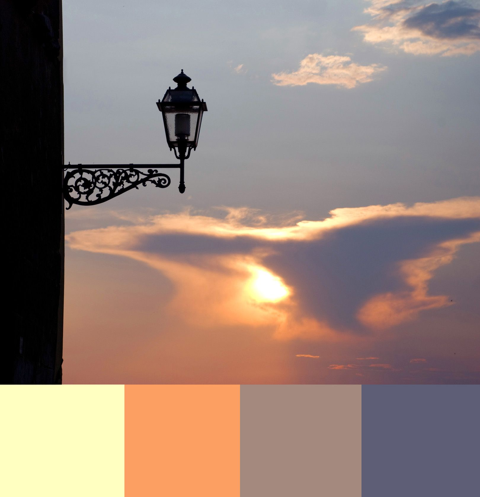 Florence Sunset: off white, apricot, rose quartz, purple taupe ...