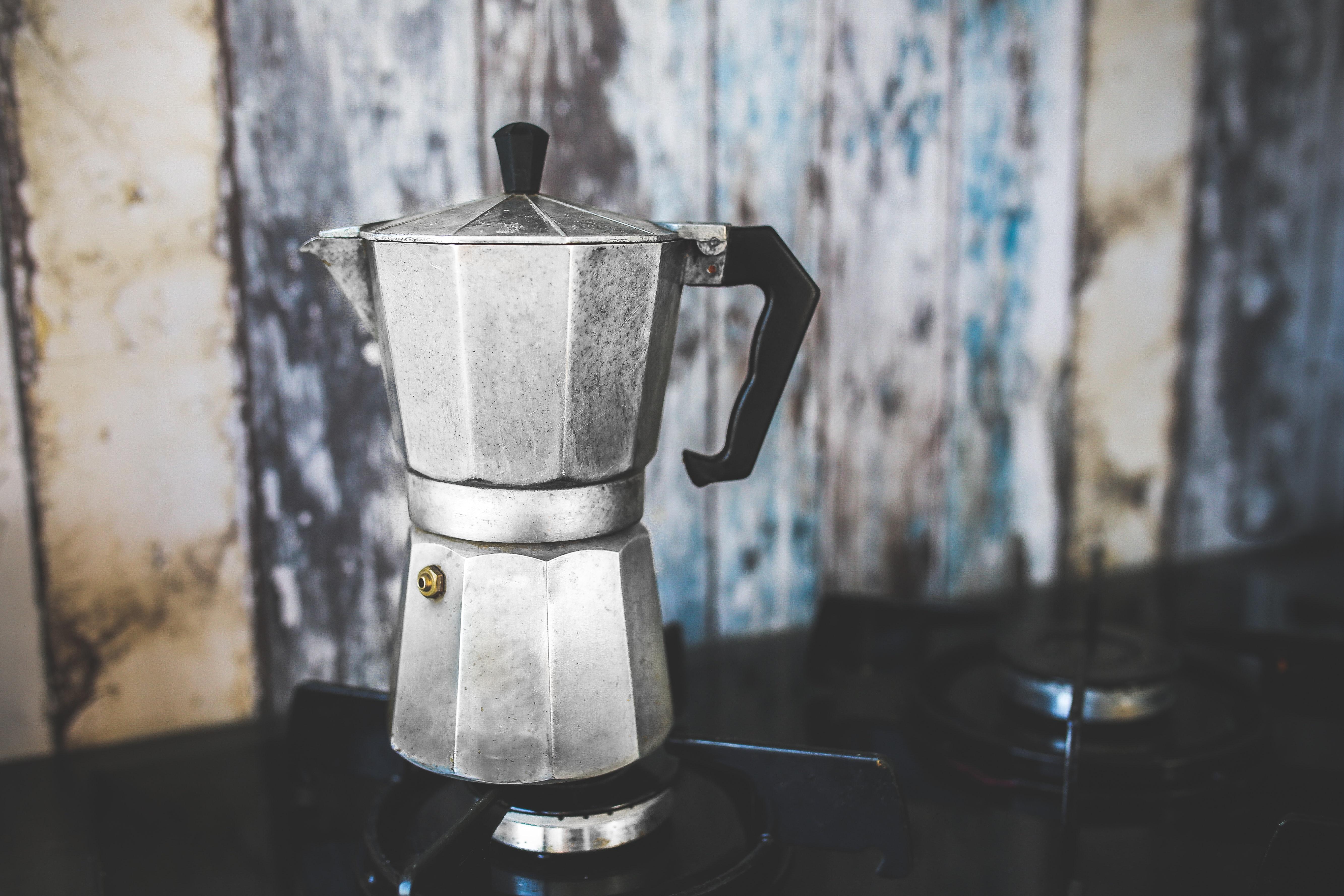 Vintage Moka Espresso Coffee Pot / Maker, Aluminium, Maker, Vintage, Tea, HQ Photo