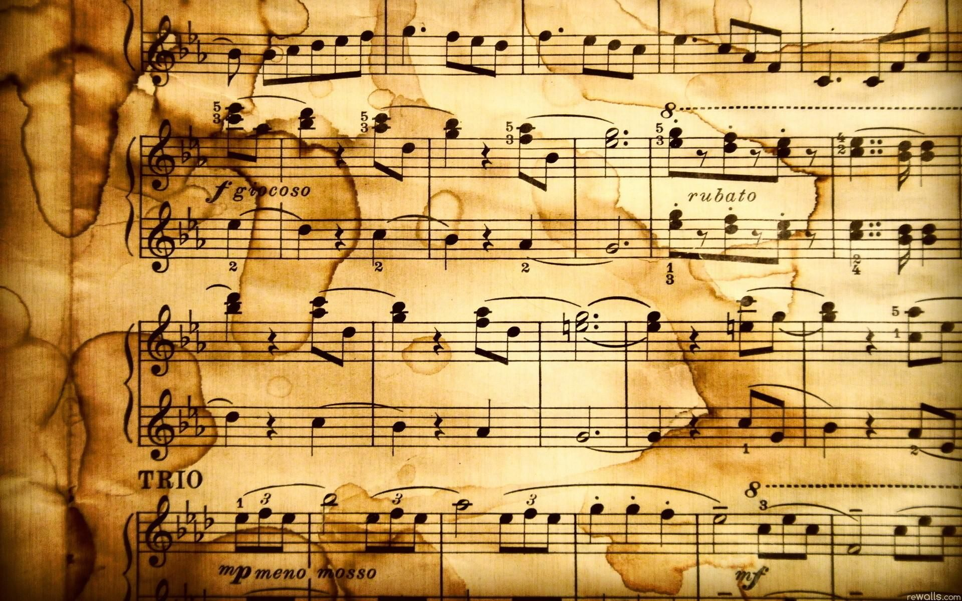 Vintage musical notes photo