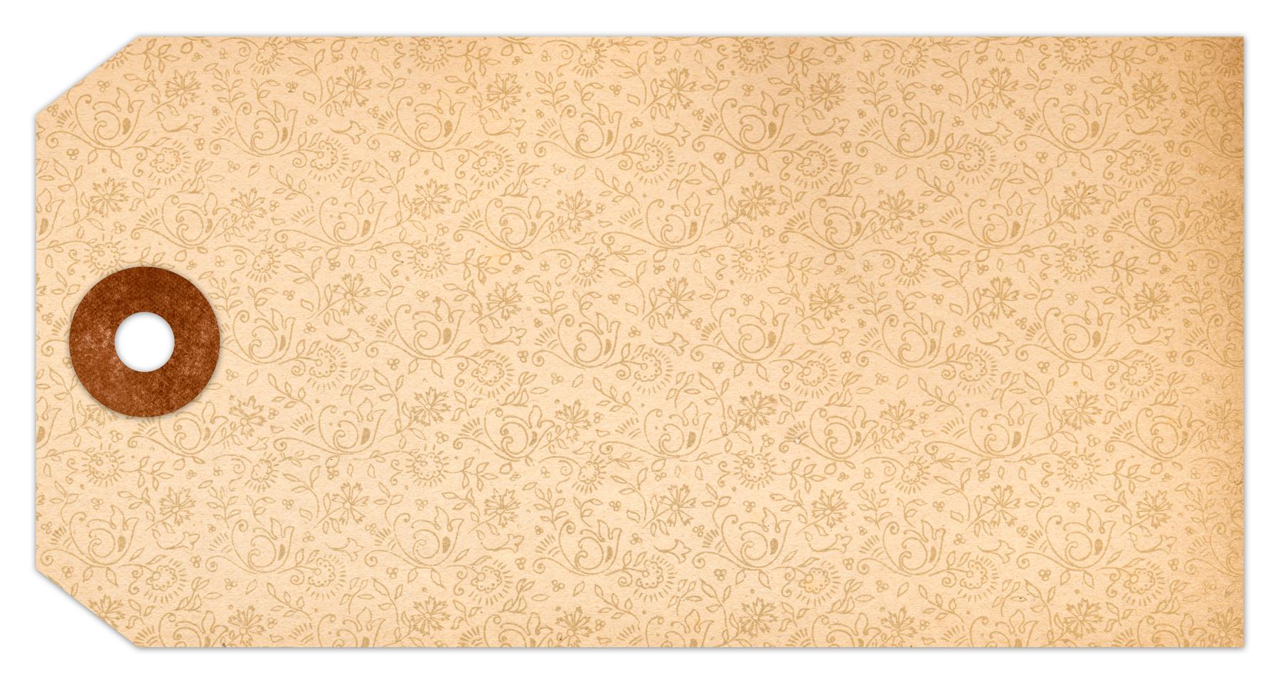 Vintage paper tag - flourish pattern photo