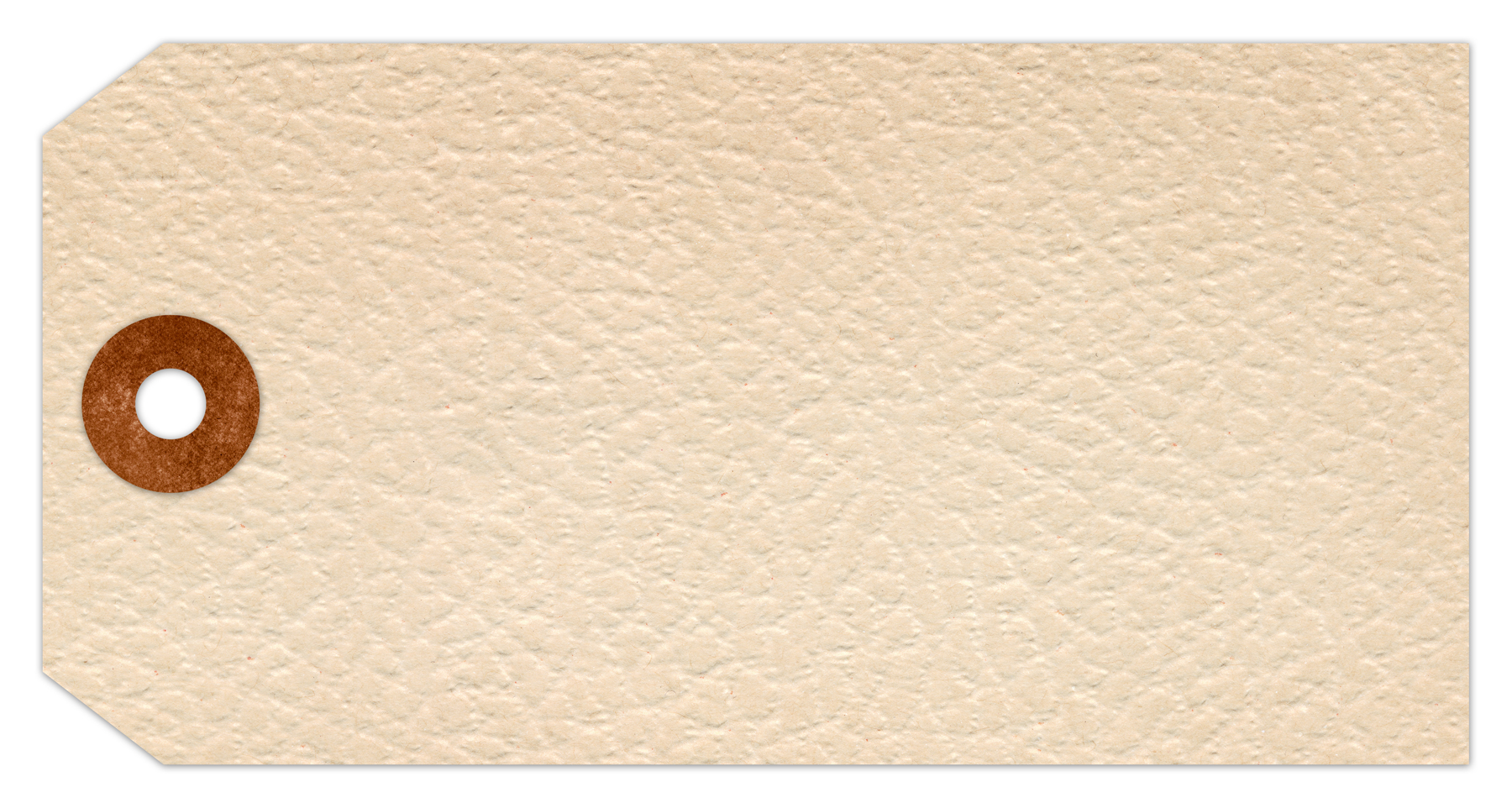 Vintage paper tag - white leather photo