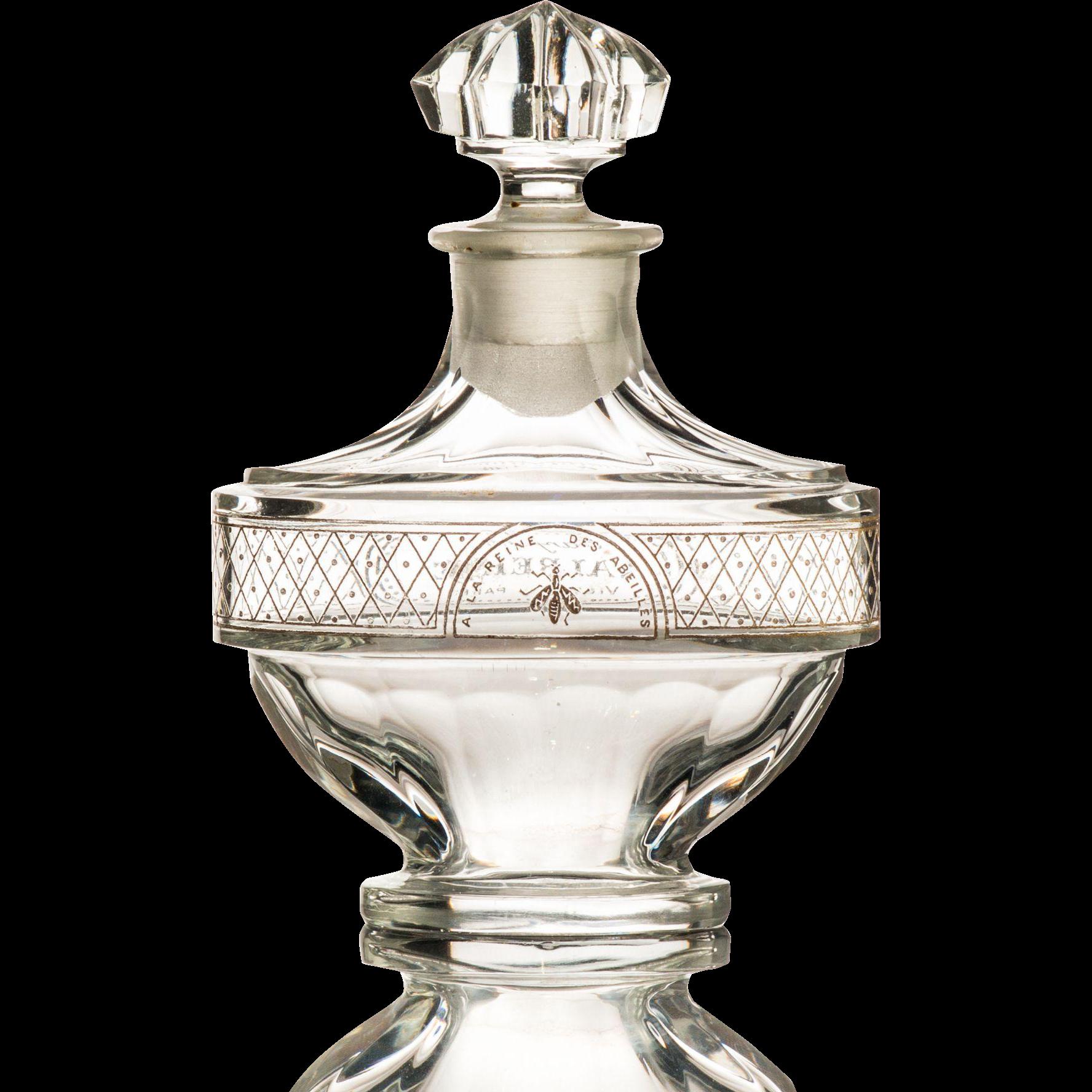 Vintage Perfume Bottle by Baccarat for Parfumerie Violet Valreine ...