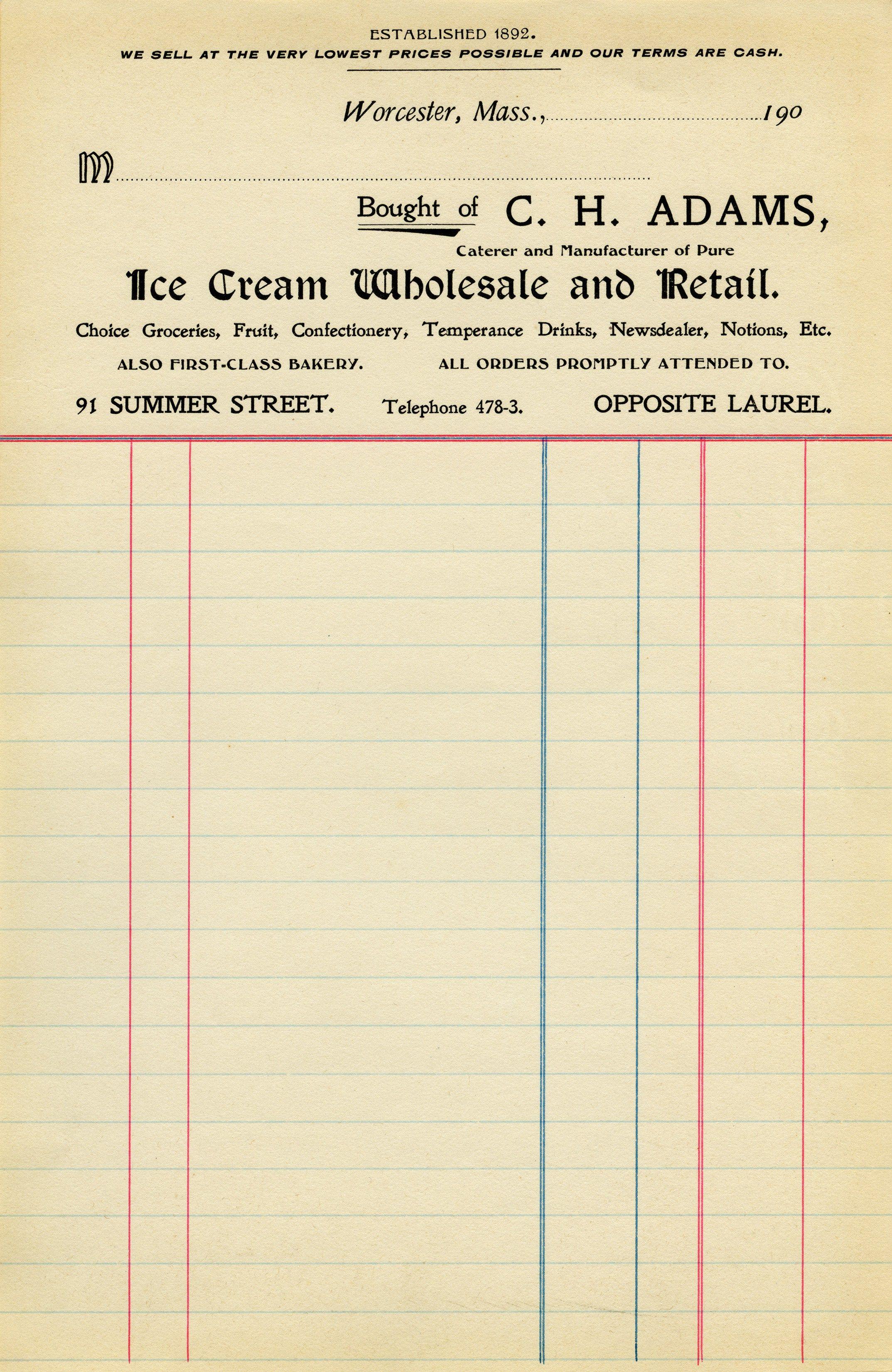 free vintage ephemera, antique invoice, printable receipt, old paper ...