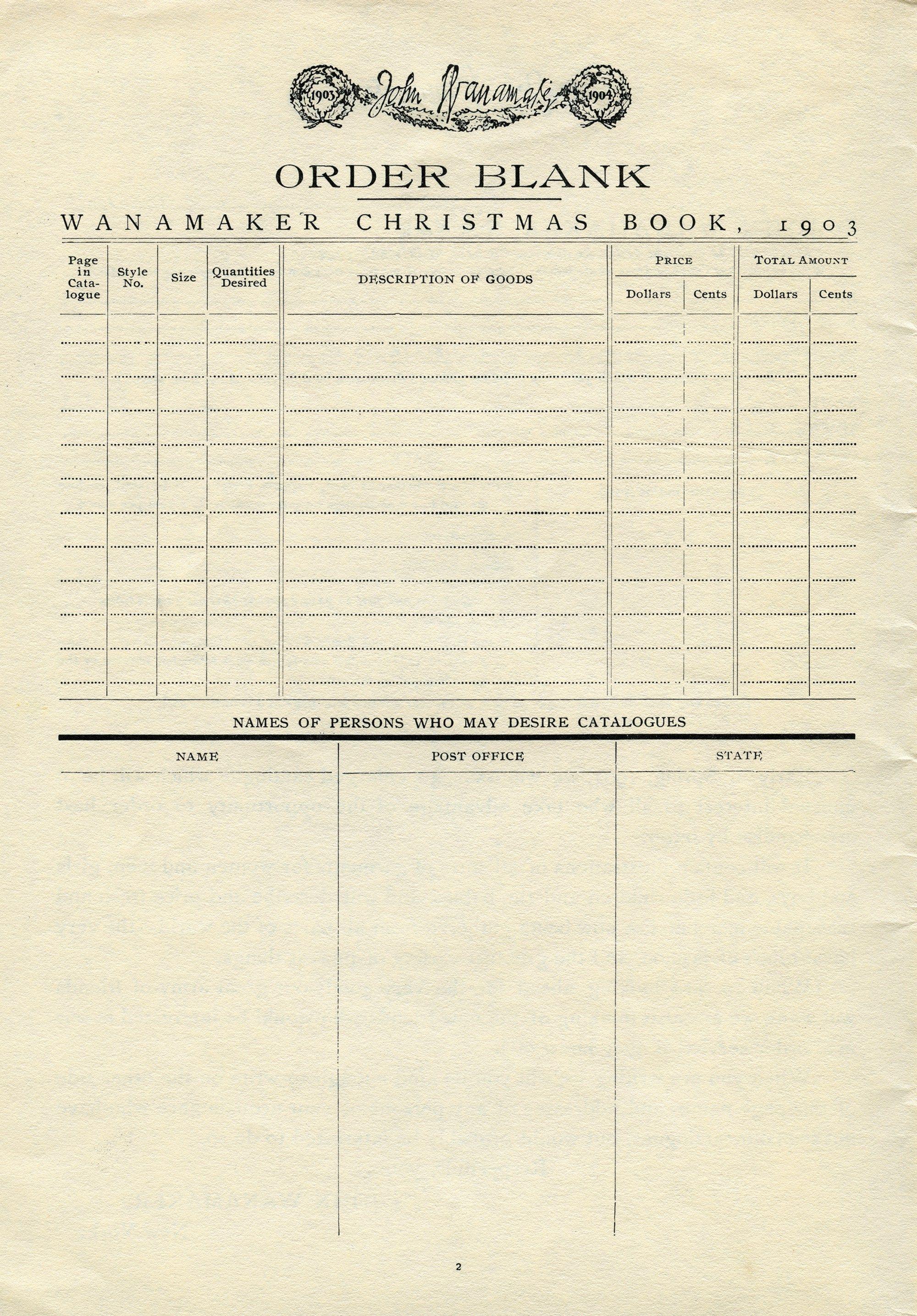 vintage ephemera, antique catalogue order form, old paper graphics ...